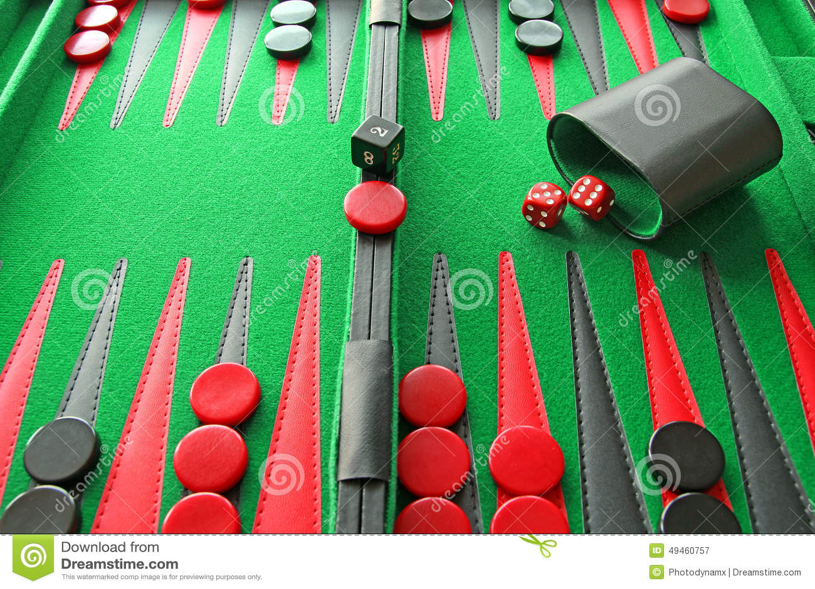 Juego De Mesa Del Backgammon Imagen De Archivo Imagen De Diversion
