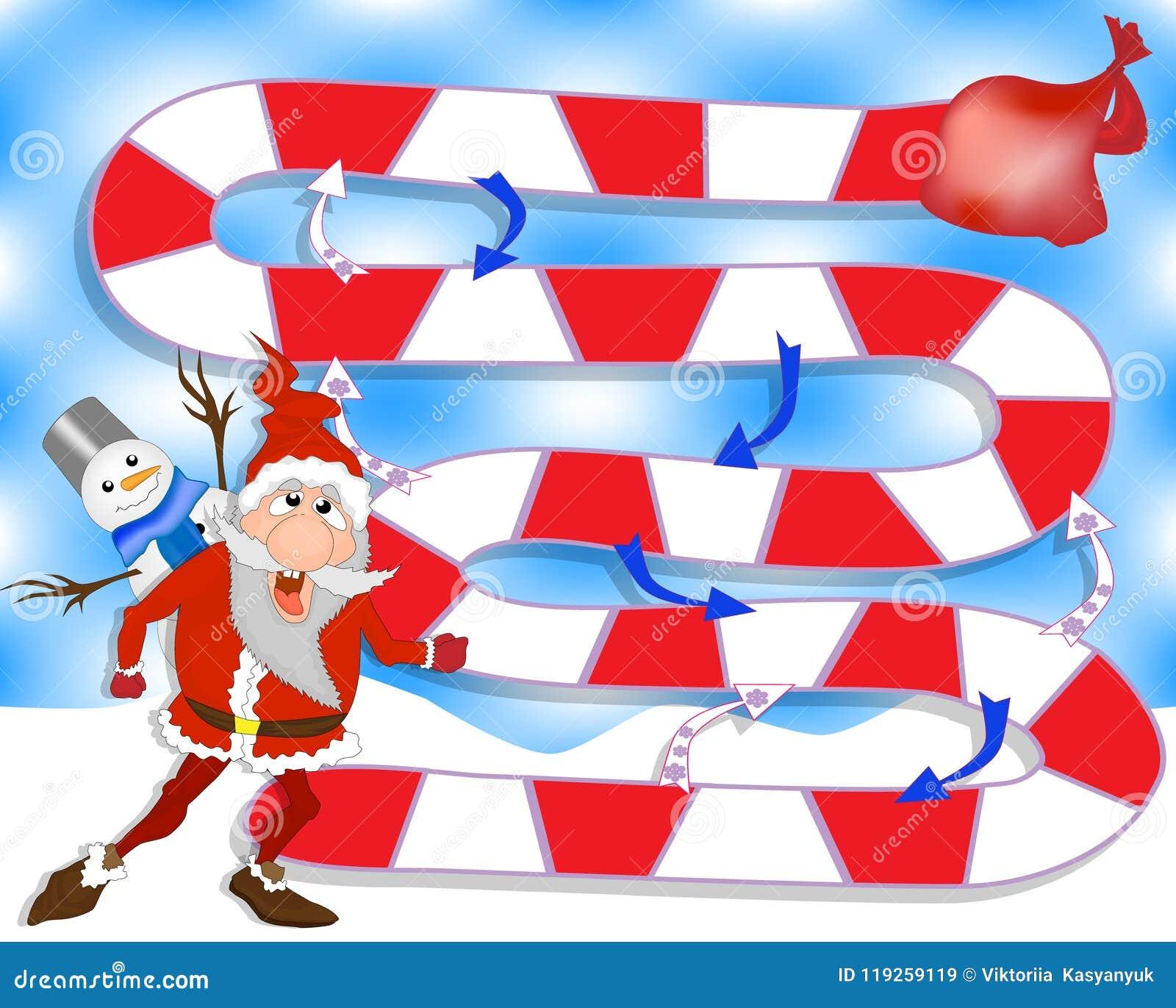 Juego De Mesa De La Navidad Papa Noel Y Regalos Juego Para La