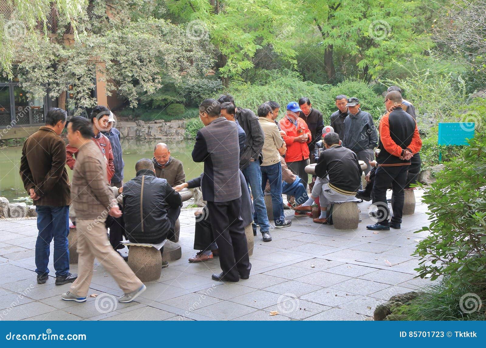 Juego De Mesa Shangai China Del Chino Tradicional Del Parque De