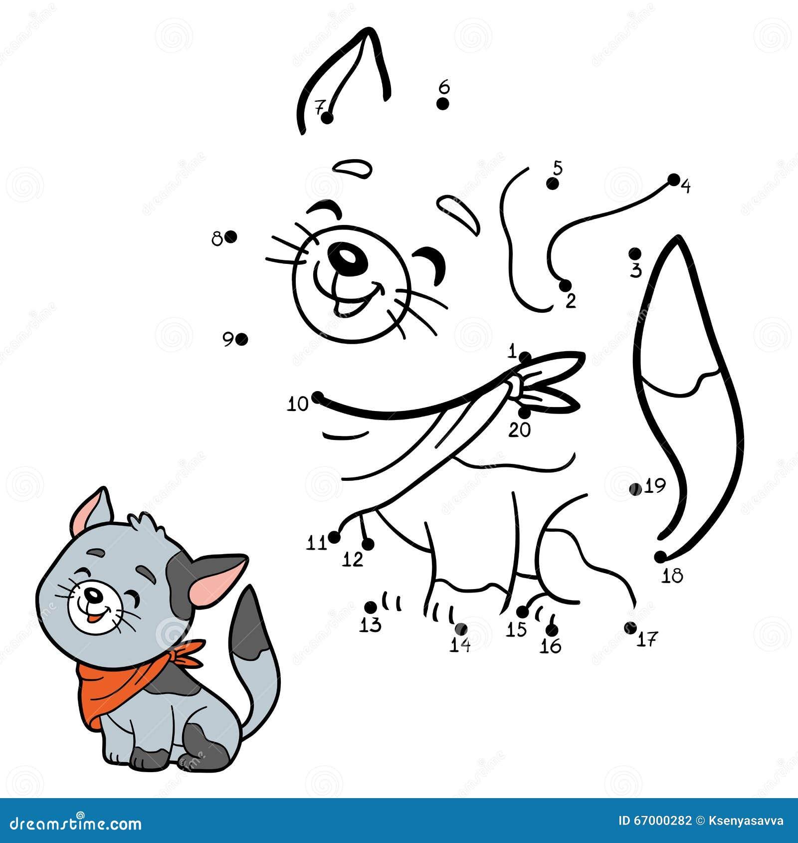 Juego de n meros para los ni os gato gris ilustraci n for El jardin gris juego