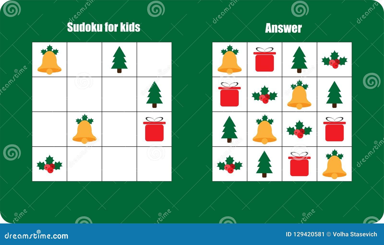 Juego De Sudoku Con La Campana De Las Imagenes De La Navidad Regalo