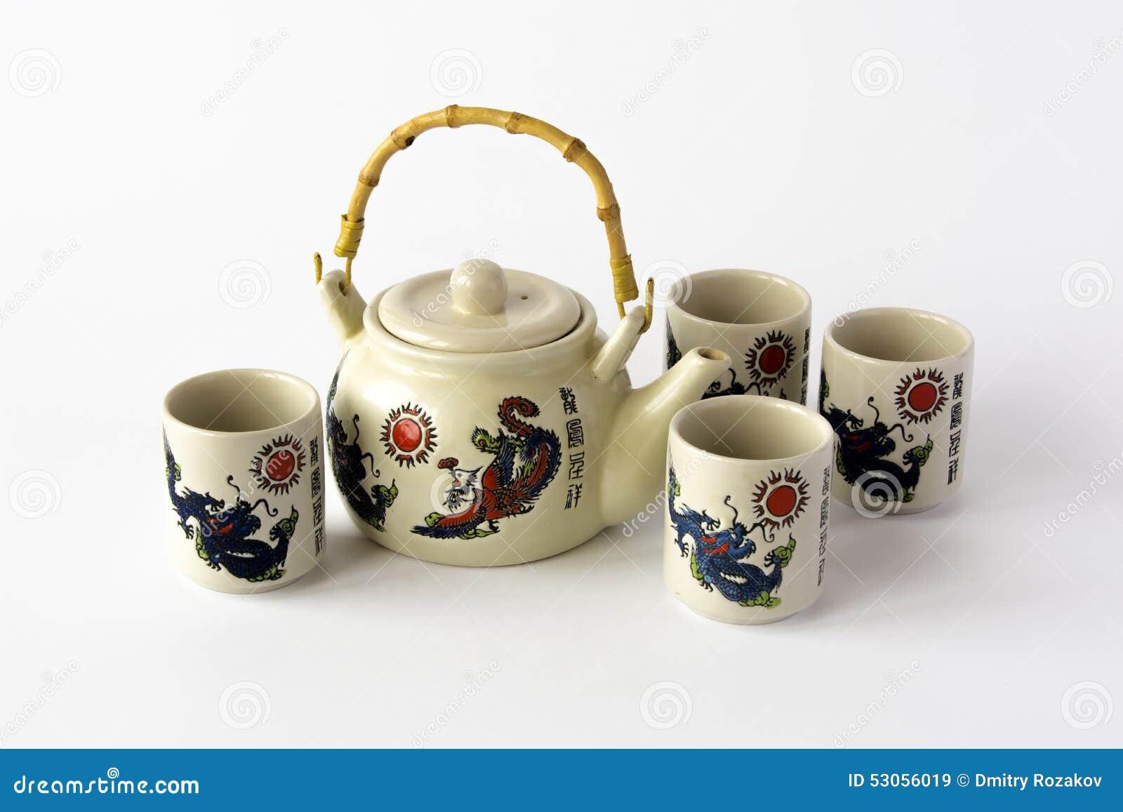 Juego de t chino de cer mica foto de archivo imagen - Juego para hacer ceramica ...