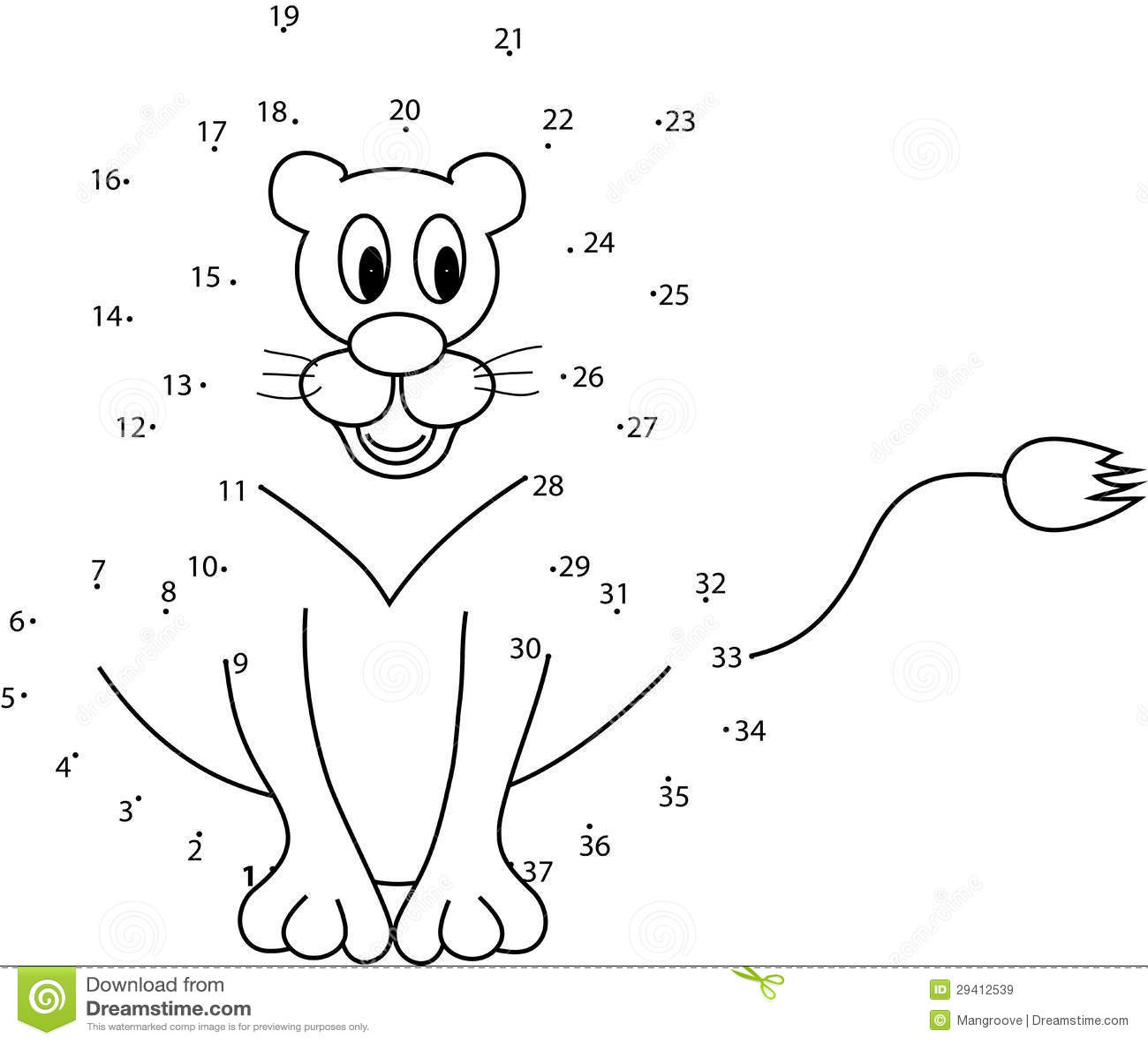 Cijfer 40 Kleurplaat Juego Del Rompecabezas Para Los Ni 241 Os Stock De Ilustraci 243 N