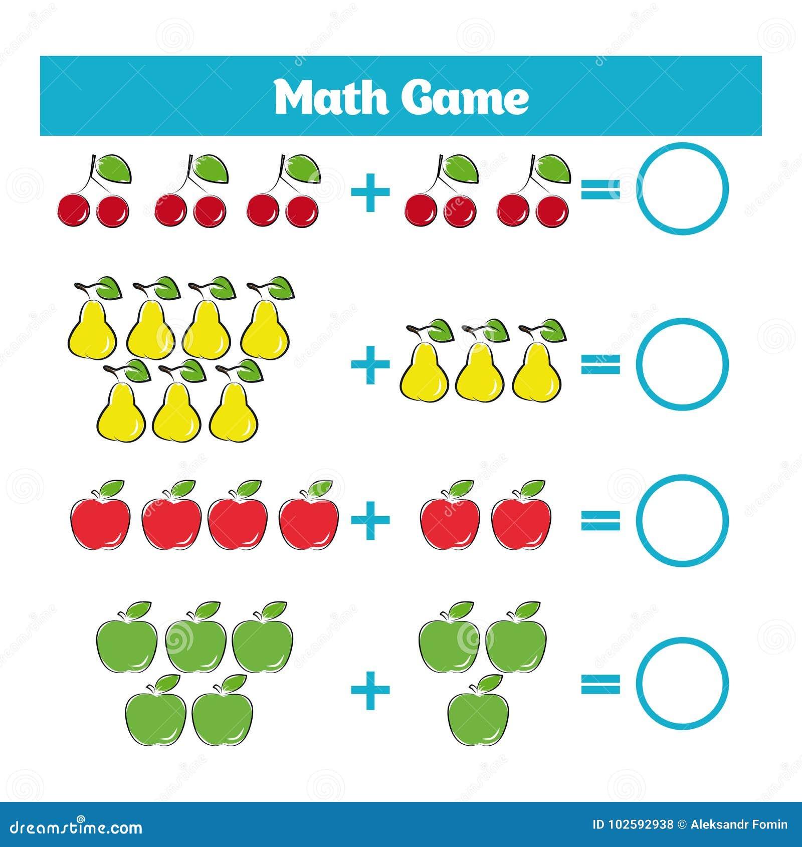 Hermosa Diversión Libre De Hojas De Trabajo De Matemáticas Viñeta ...