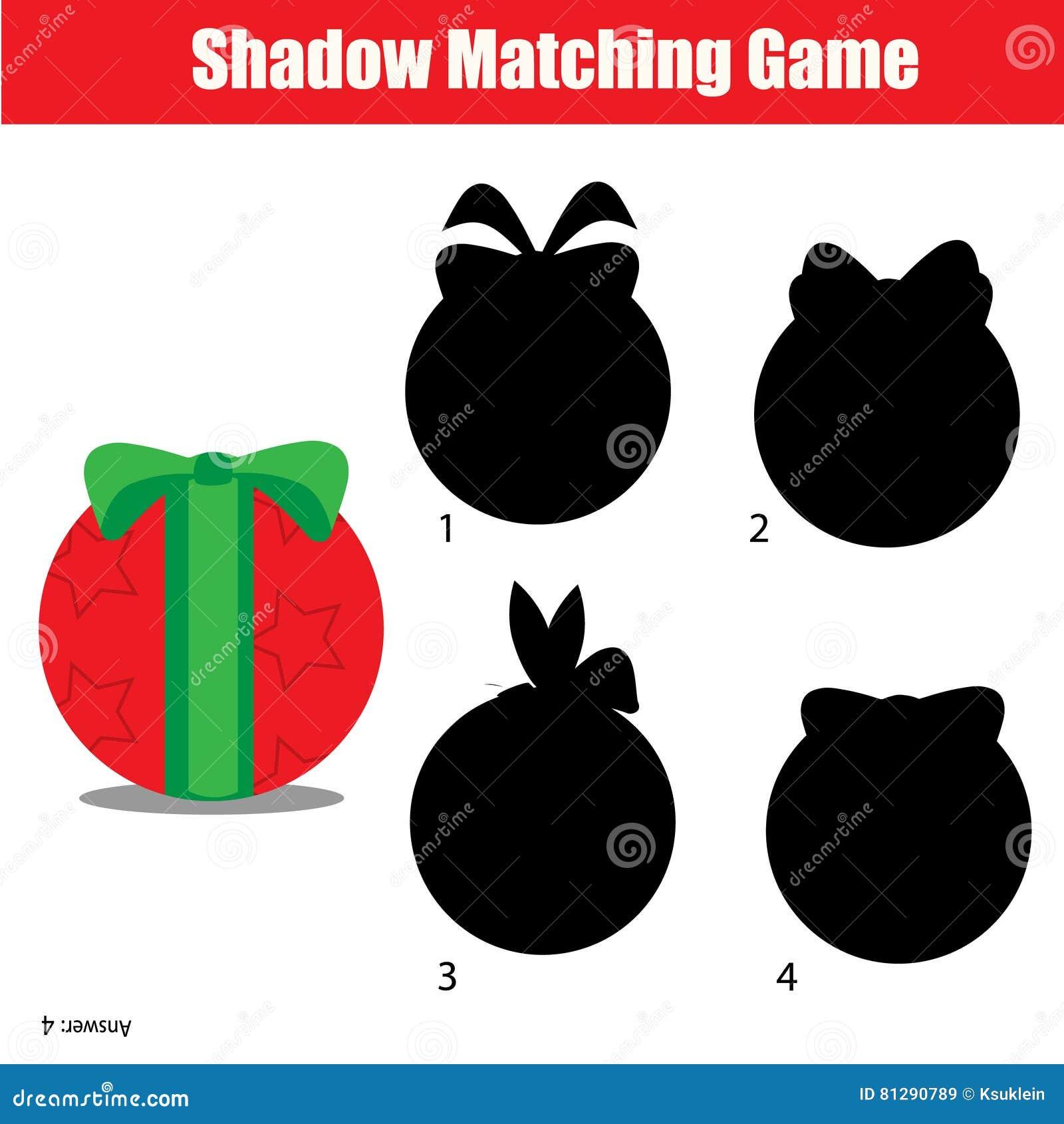 Juego A Juego De La Sombra La Navidad Tema De Las Vacaciones De