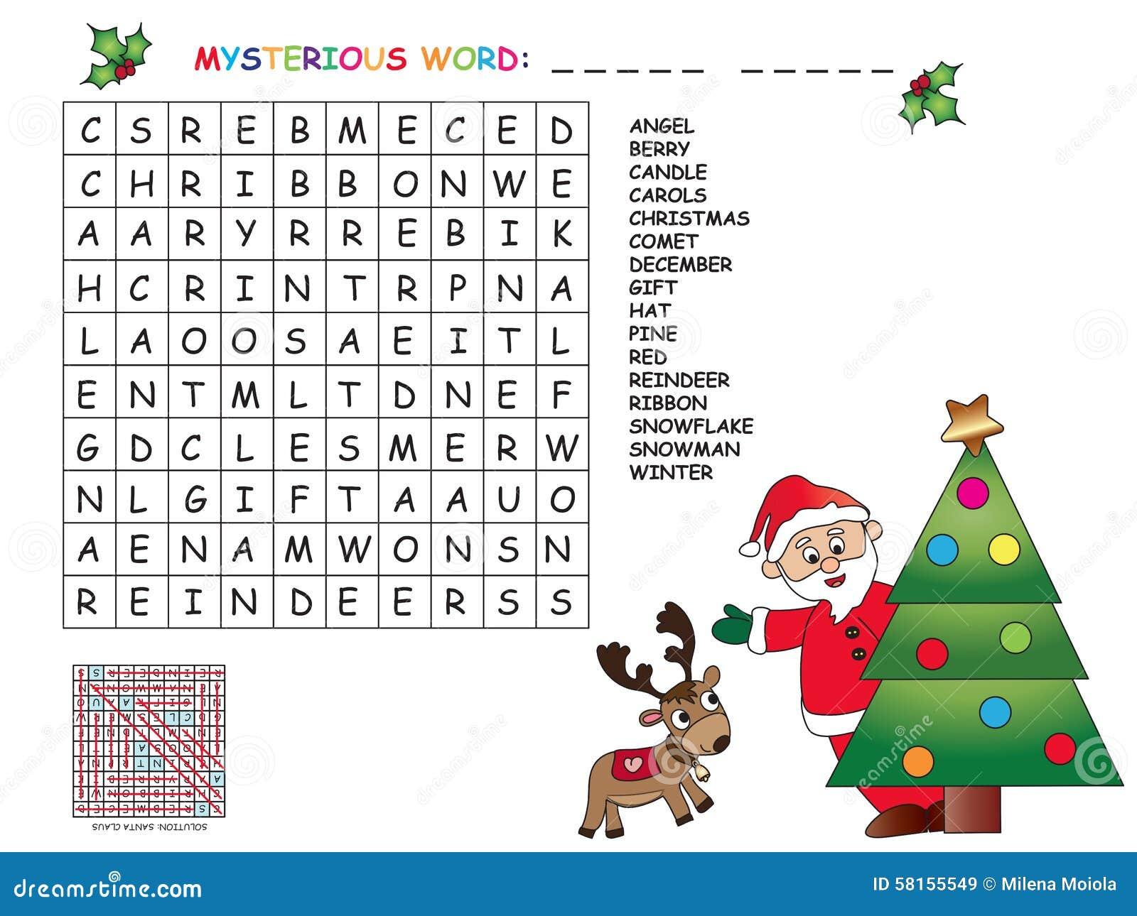 Juego Para Los Ninos Para La Navidad Stock De Ilustracion