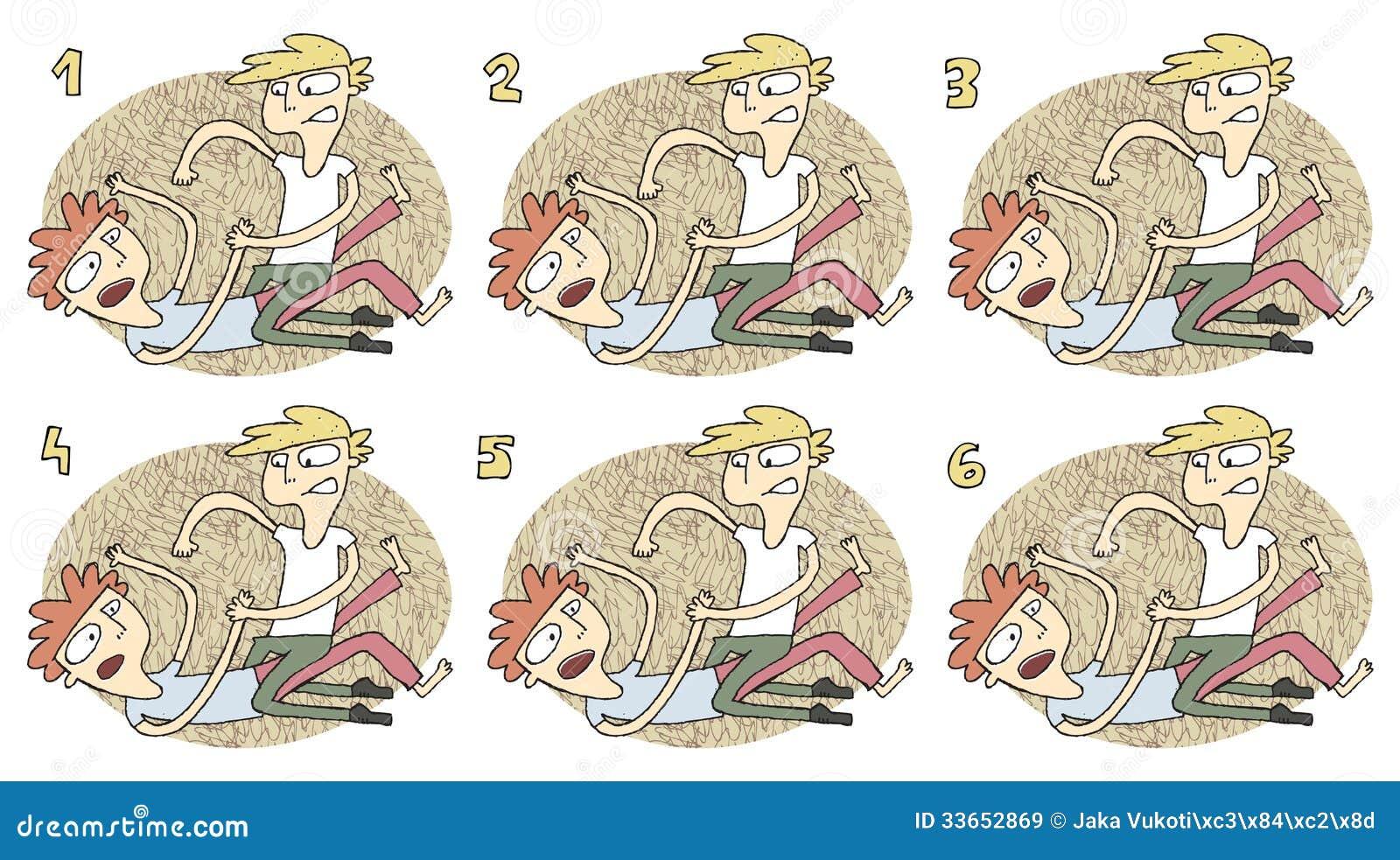 Juego Visual De Los Pares De Partido Lucha Ilustracion Del Vector