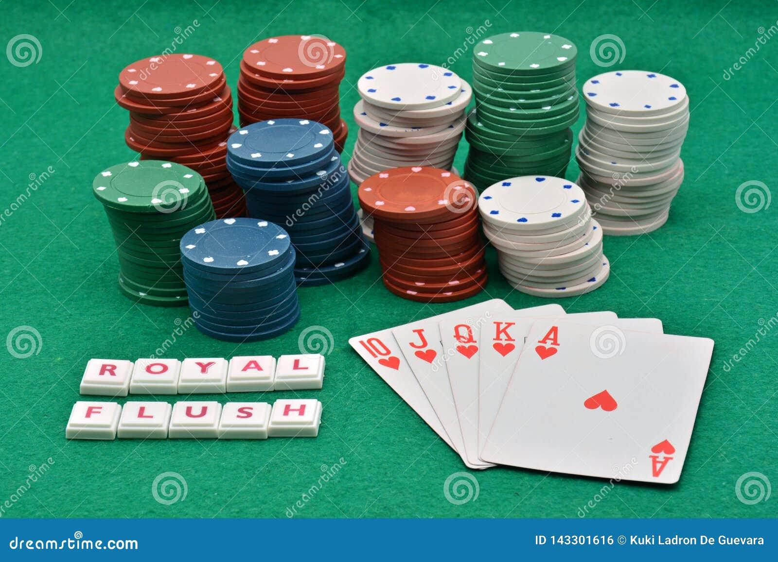 Juegos del póker que ganan, escalera real