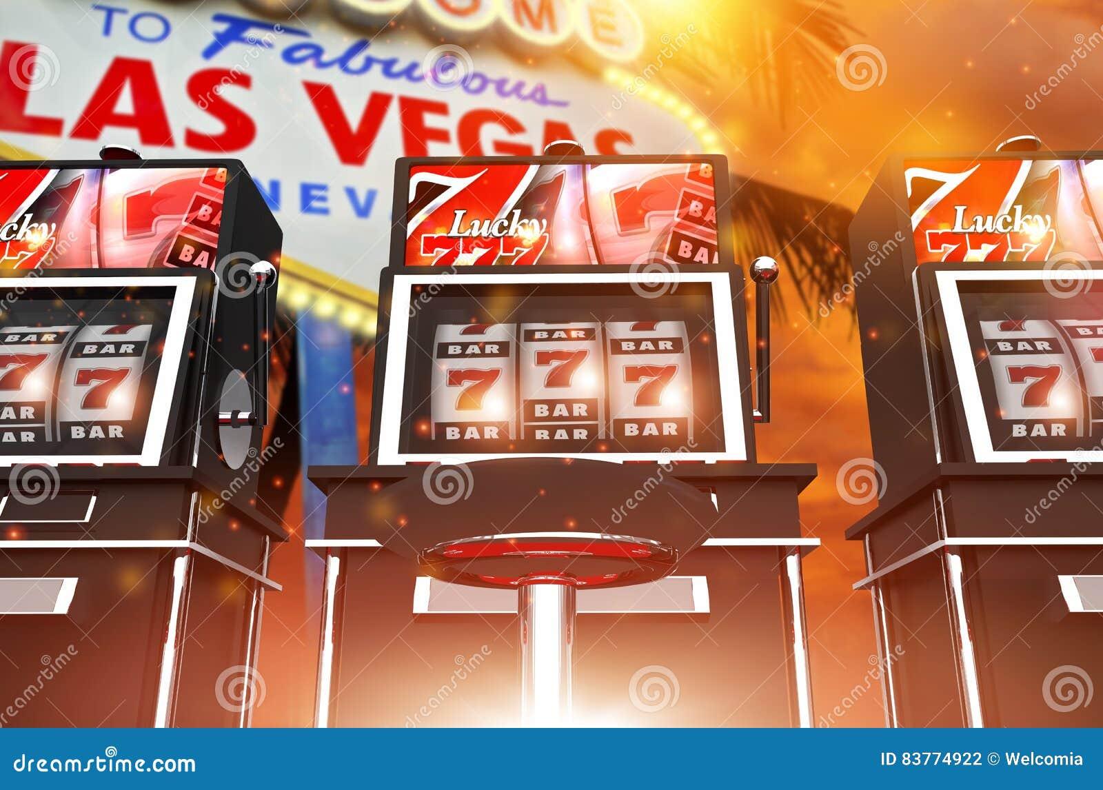 Juegos Famosos De La Ranura De Las Vegas Foto De Archivo Imagen De