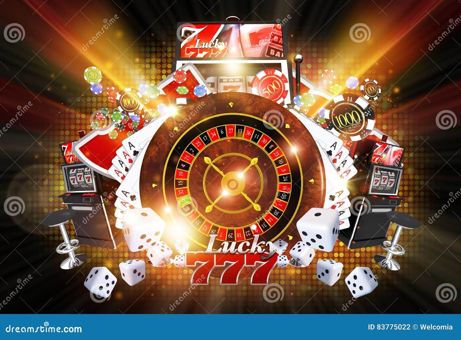 Juegos iluminados del casino