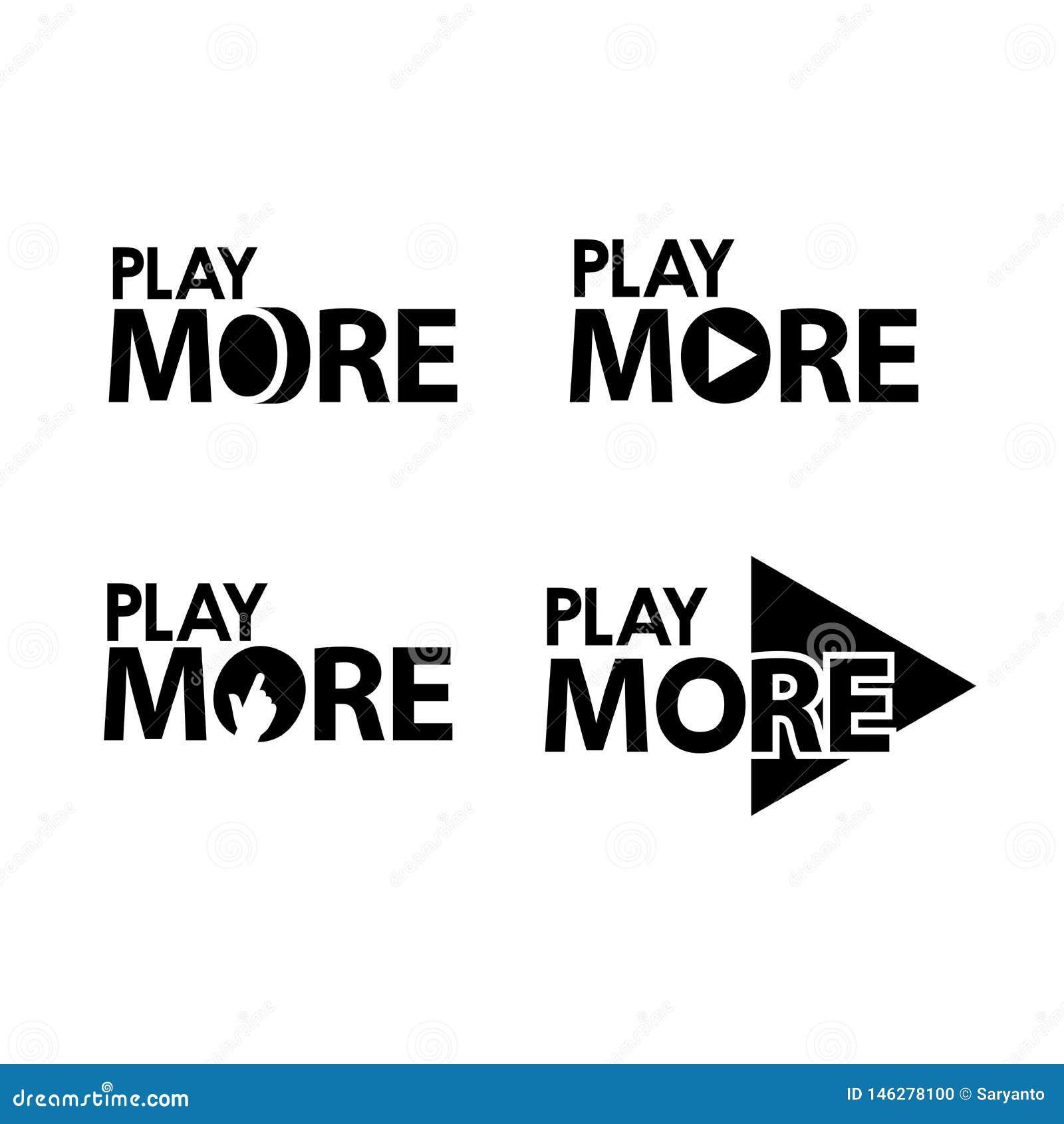 Juegue m?s Ejemplo creativo del vector de las letras Ejemplo en formato del vector