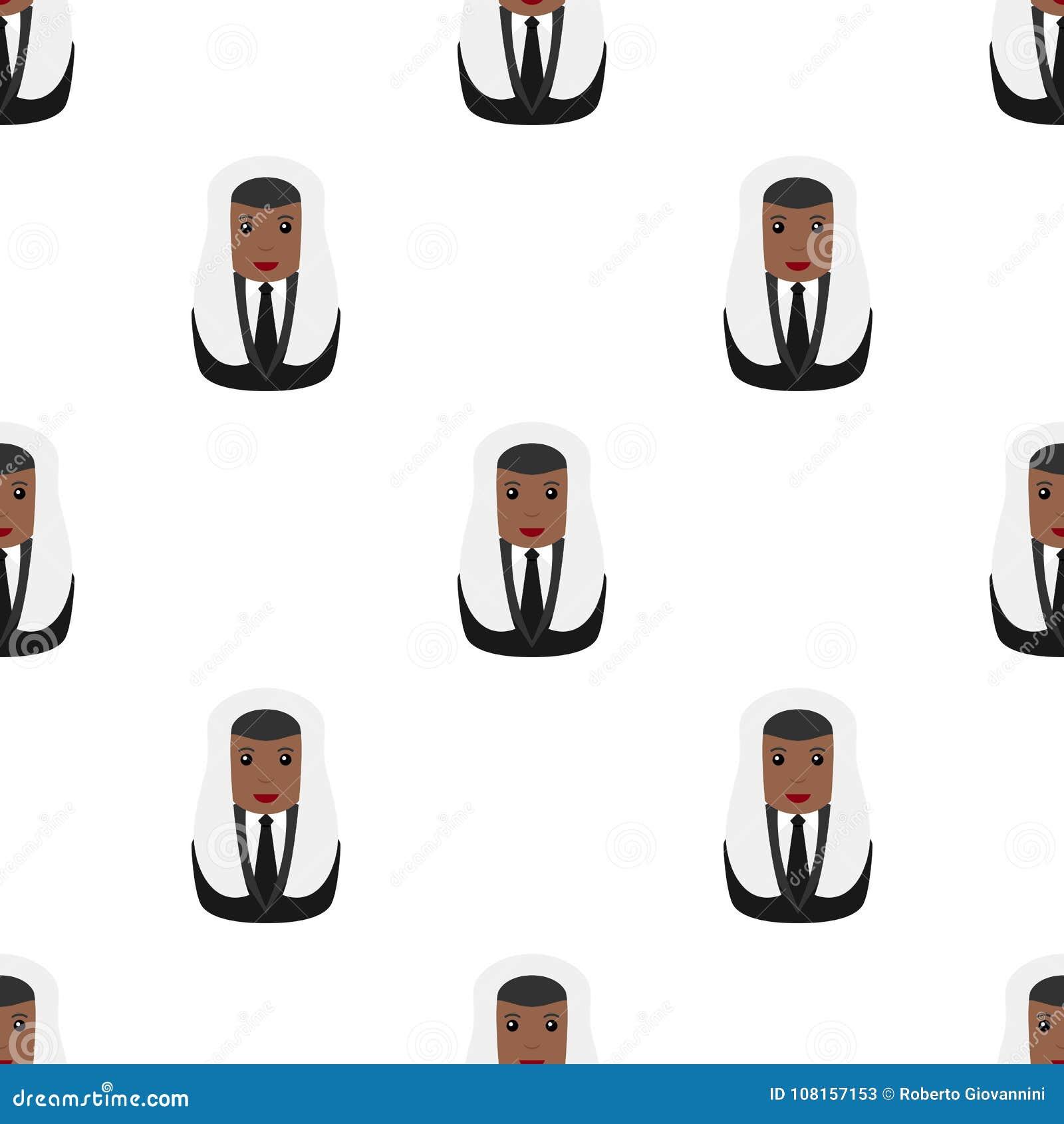 Juez o magistrado negro Seamless Pattern