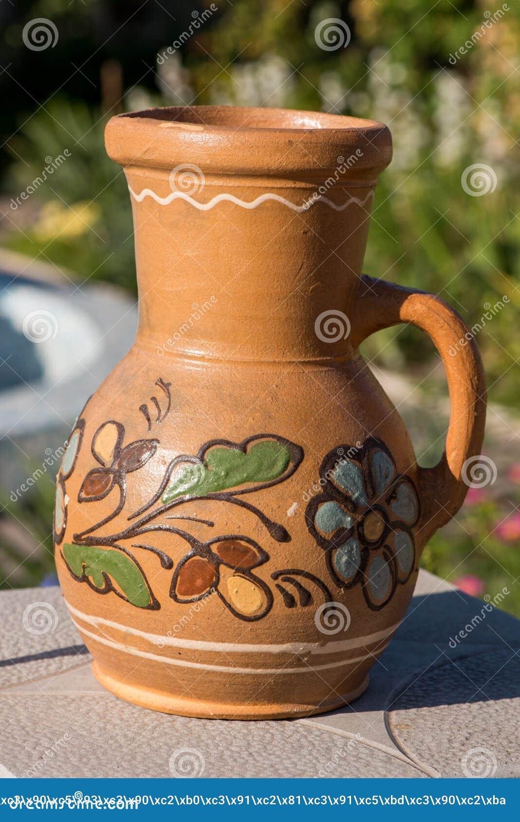 Jug With Clay Closeup  Jug With Ceramics Editorial Stock