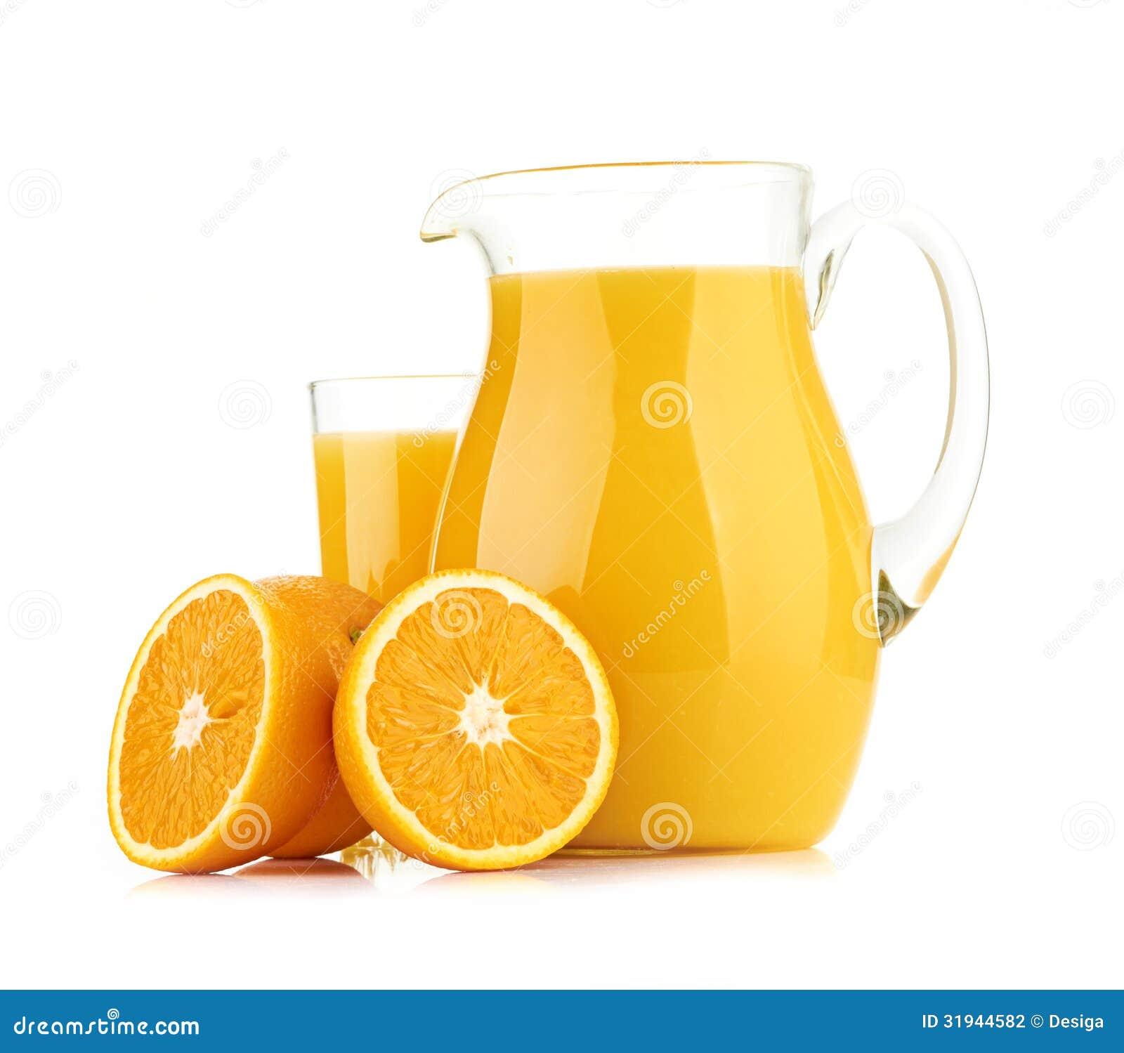orange juice jug and glass stock images  image  - jug glass of orange juice and orange fruits stock photography