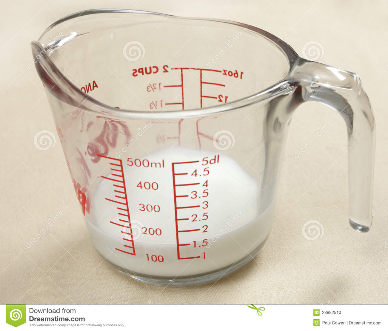 Jug Of Milk Used In Cooking Stock Photo Image 28882510