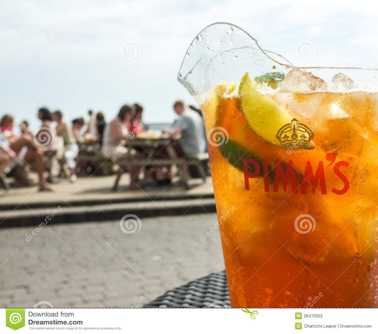 Jug of Pimm s Drink Outdoors