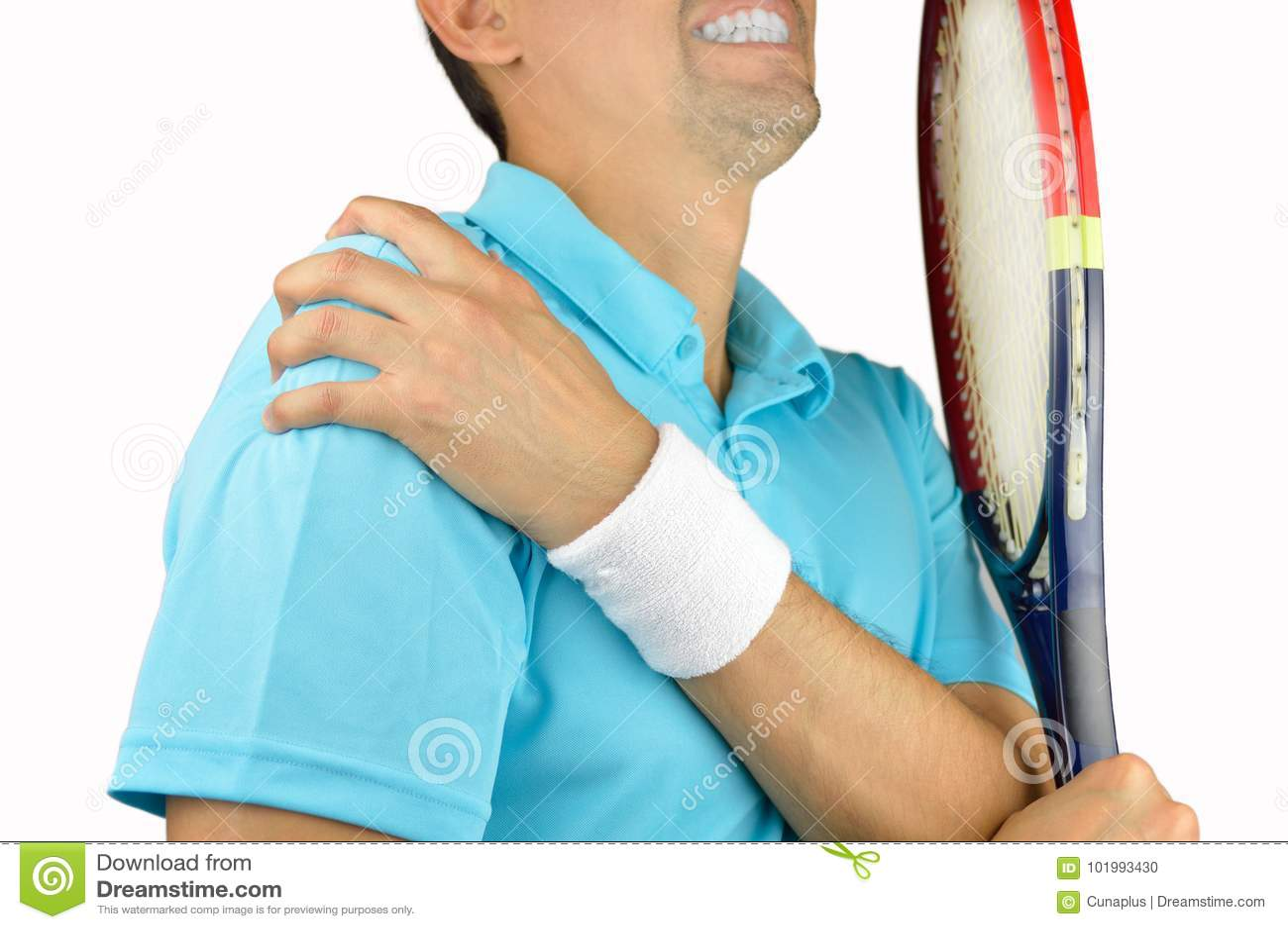 Jugador con dolor en hombro