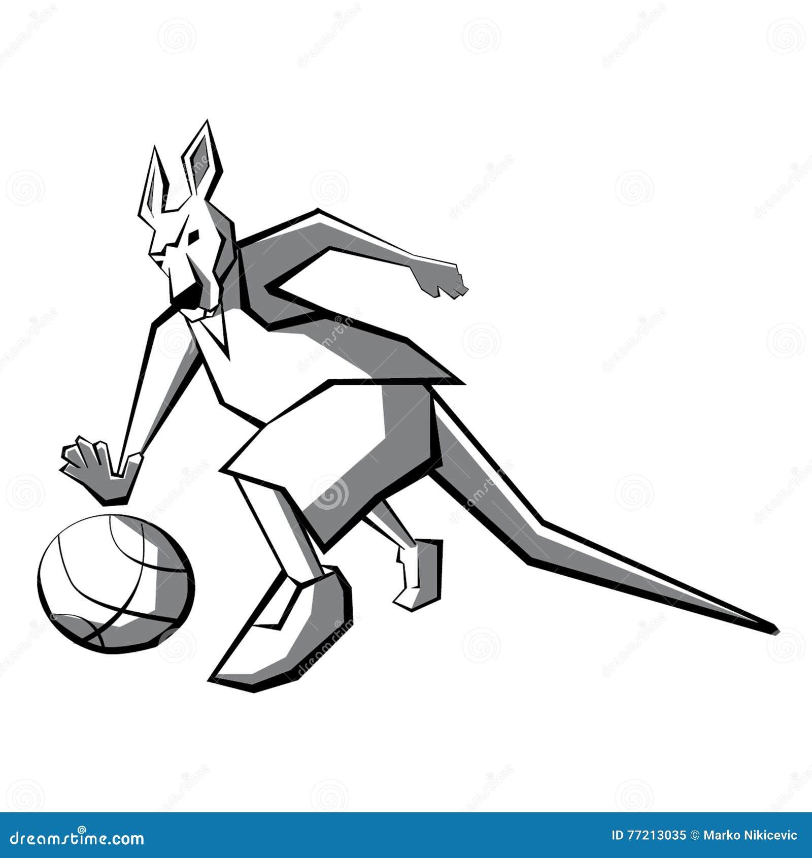 Jugador de básquet del canguro