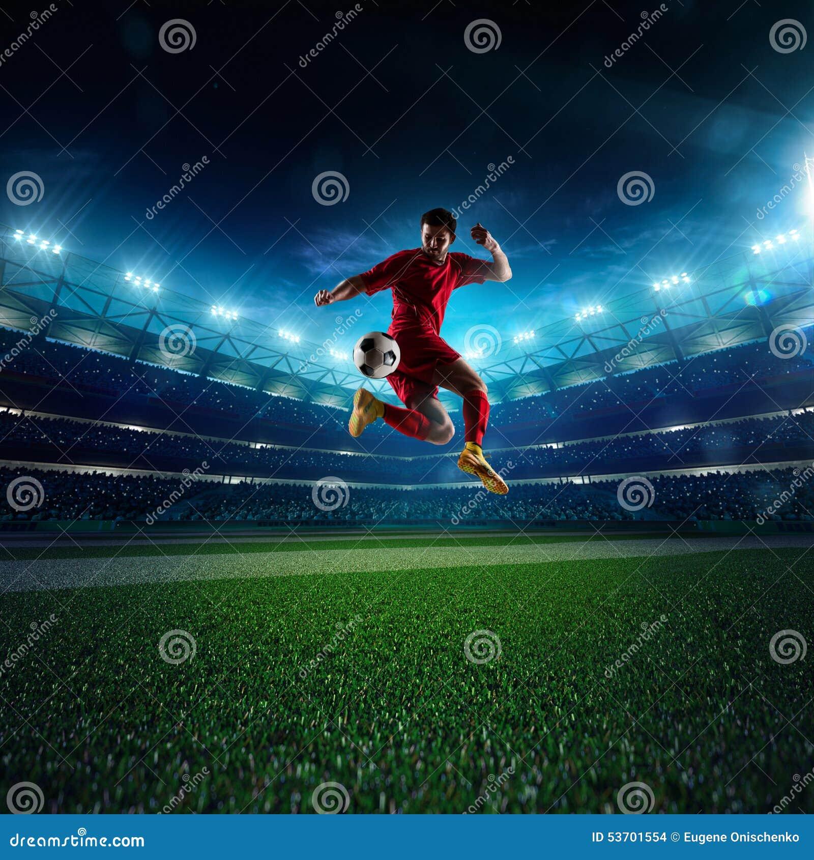 Jugador de fútbol en la acción