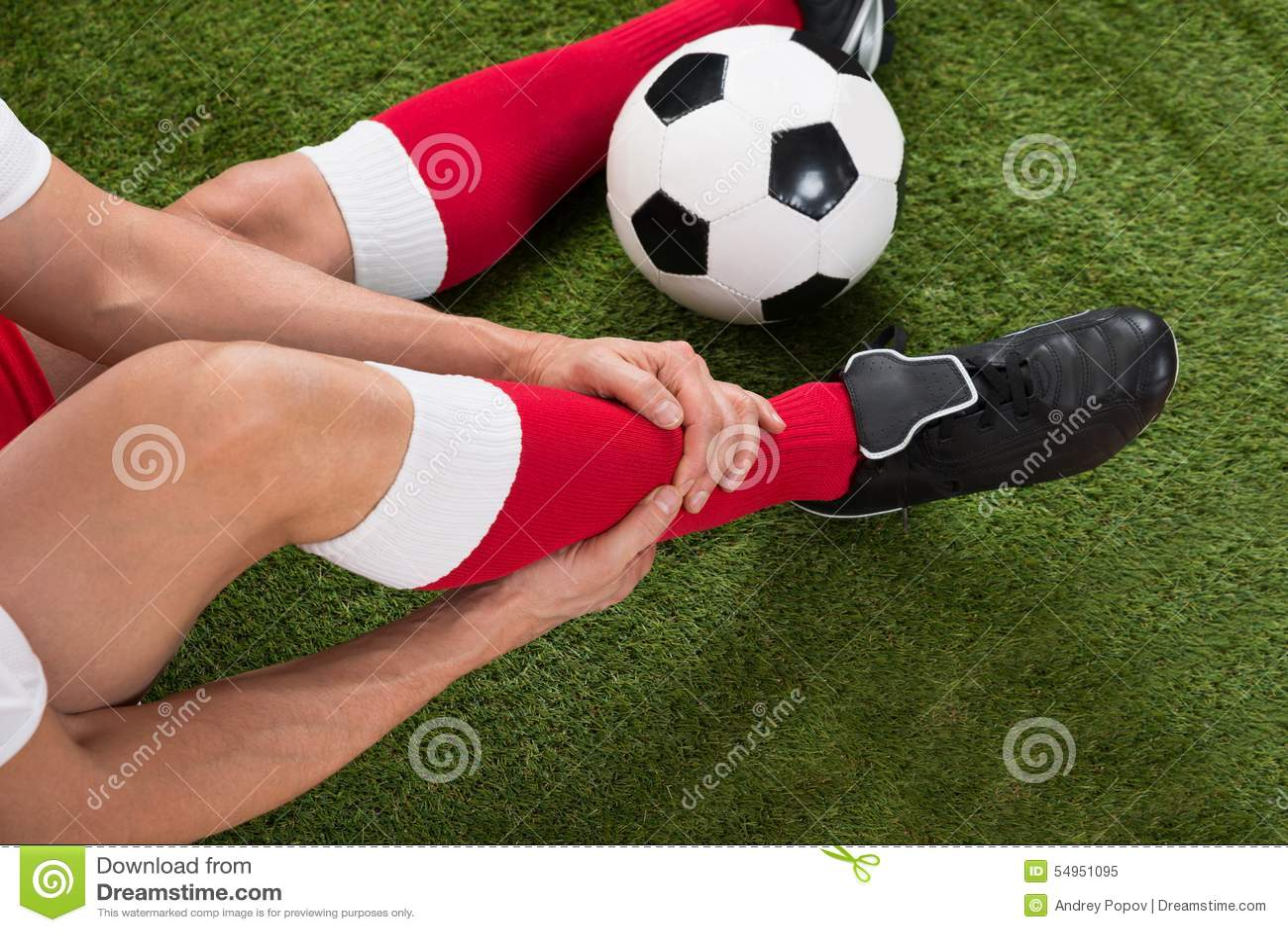Jugador de fútbol herido