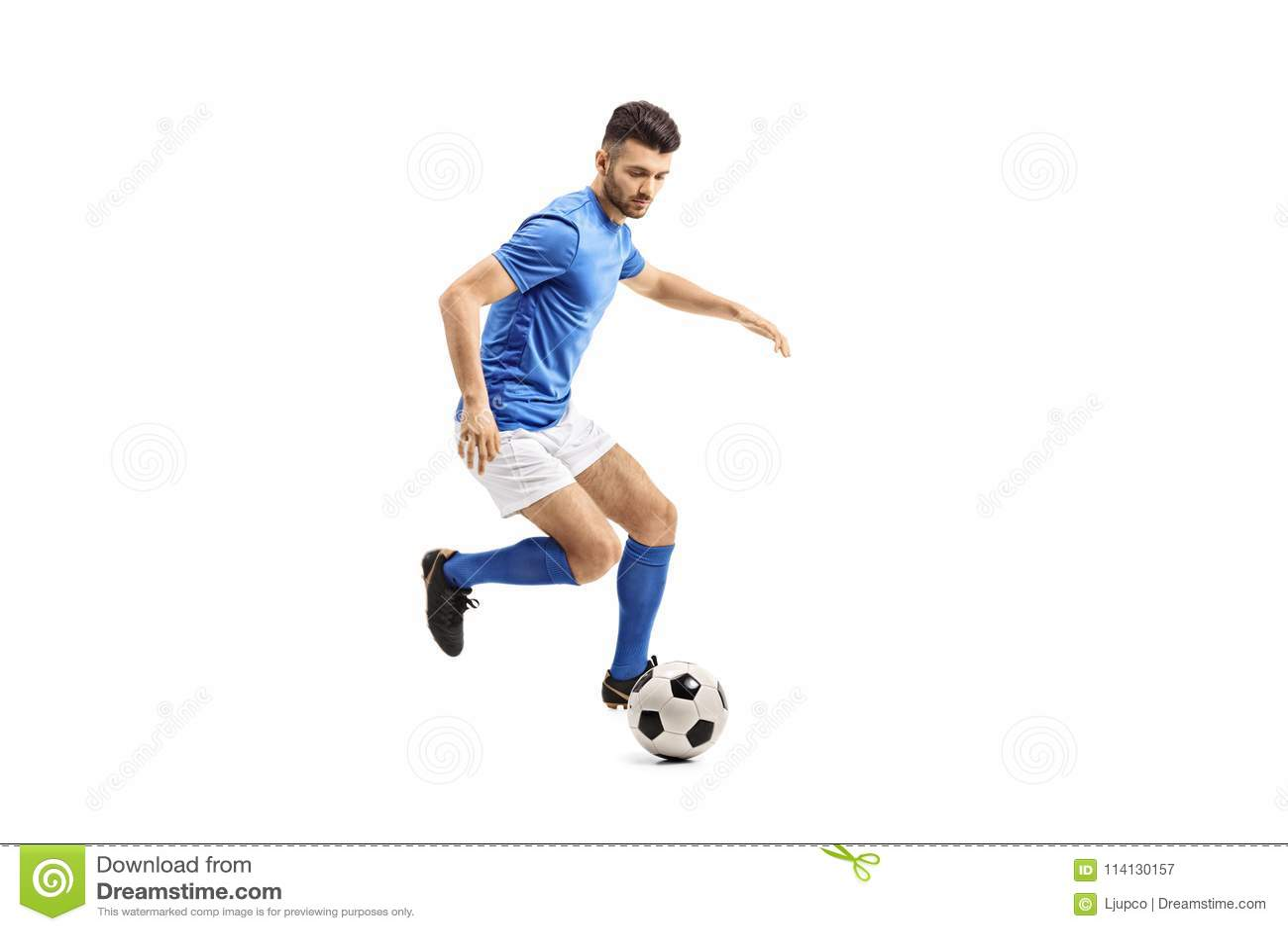 Jugador de fútbol que gotea