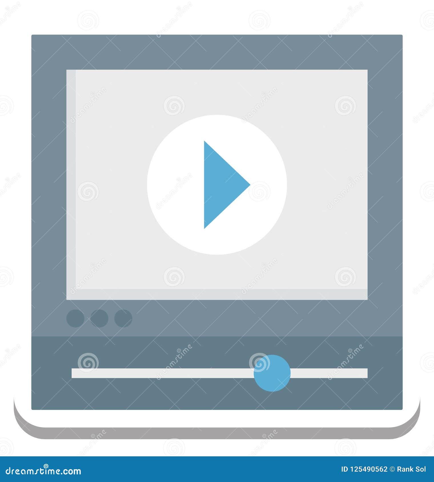 Jugador de película, icono del vector del vídeo editable