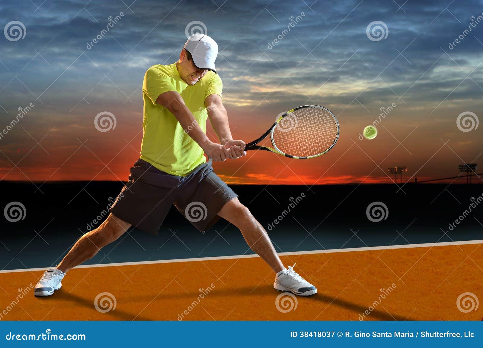 Jugador de tenis al aire libre