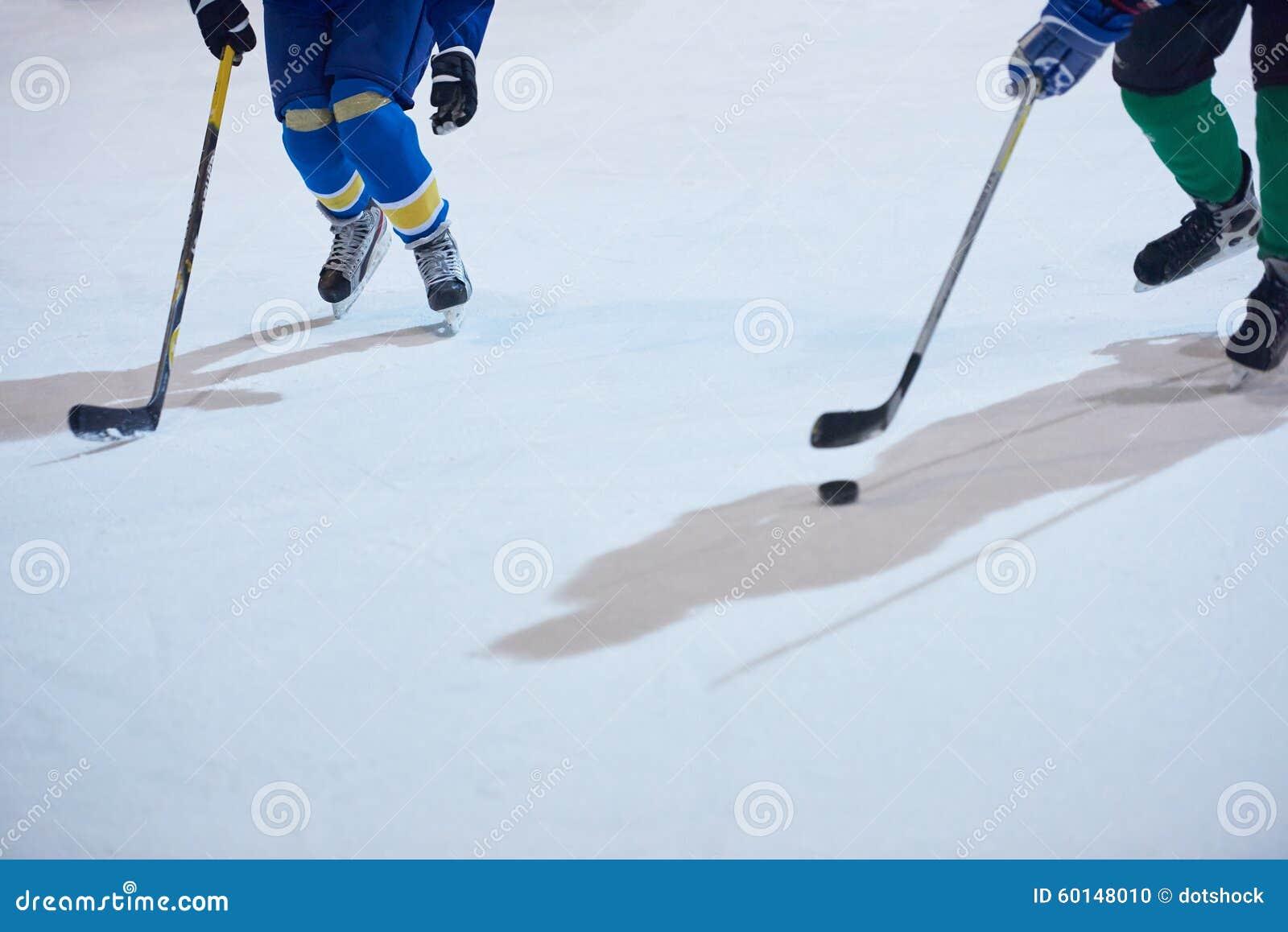Jugadores del deporte del hockey sobre hielo