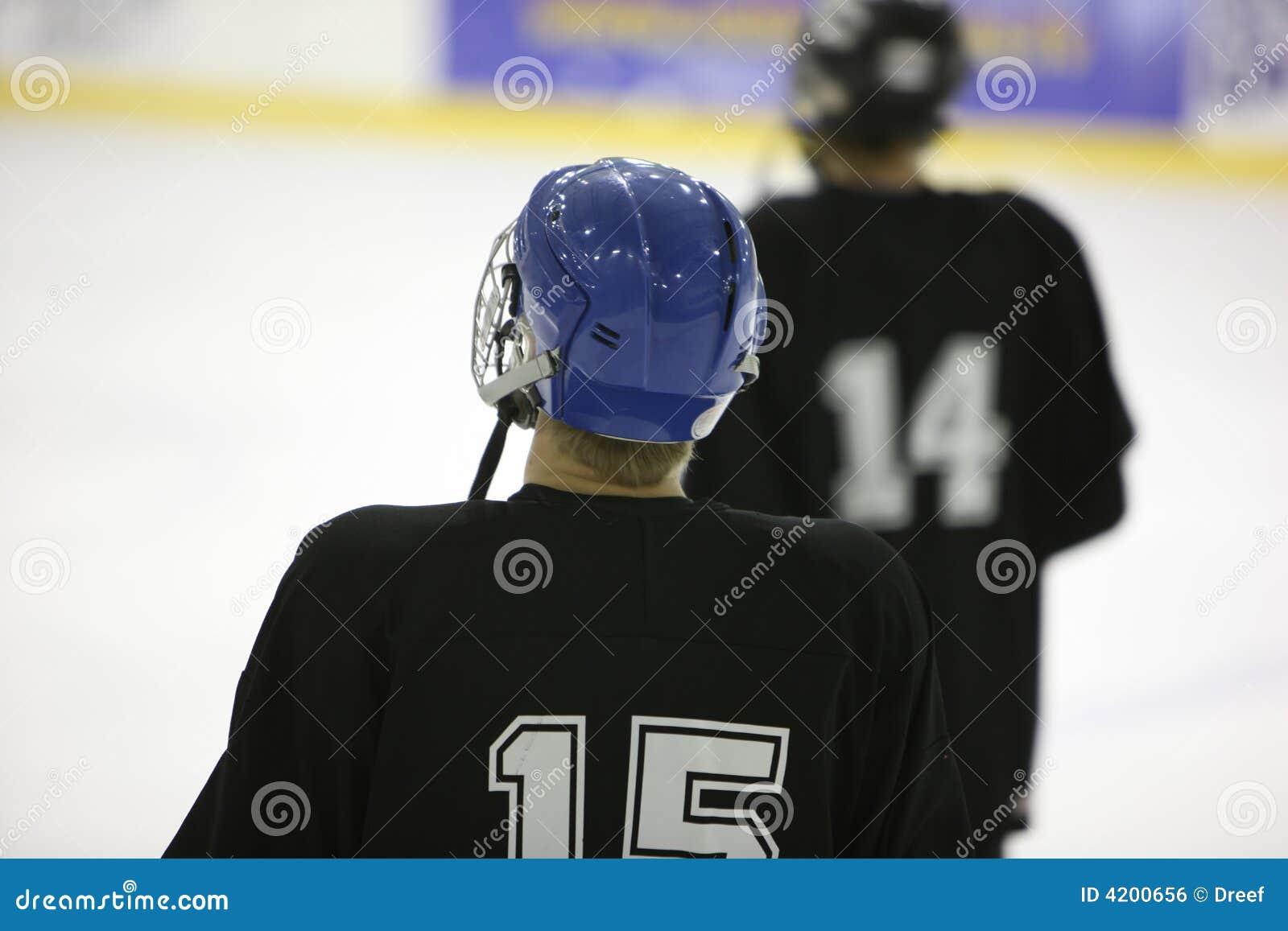Jugadores del Hielo-hockey