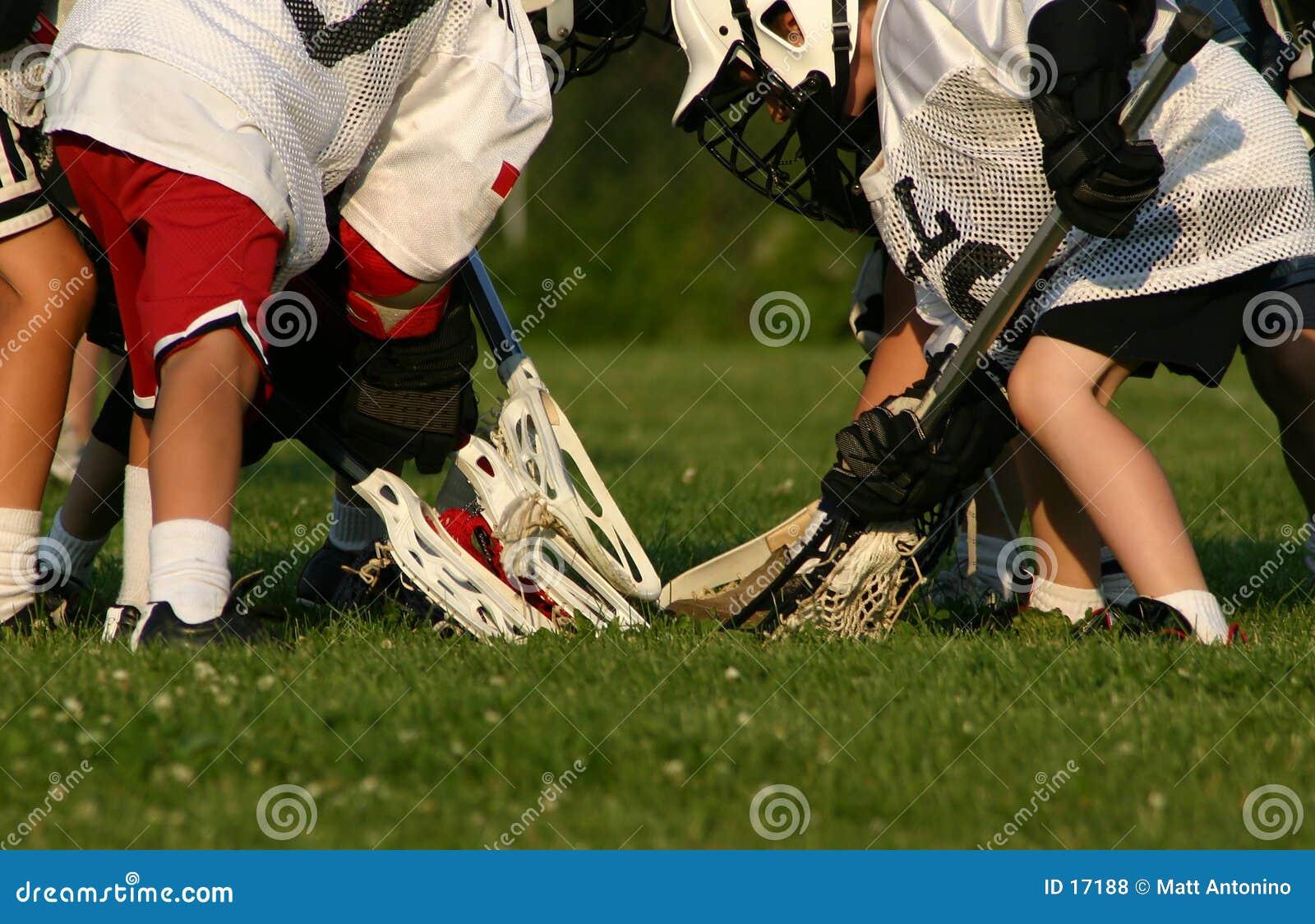 Jugadores del lacrosse