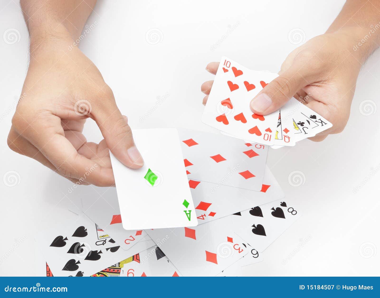 Jugar la carta verde imagen de archivo. Imagen de actividad - 15184507