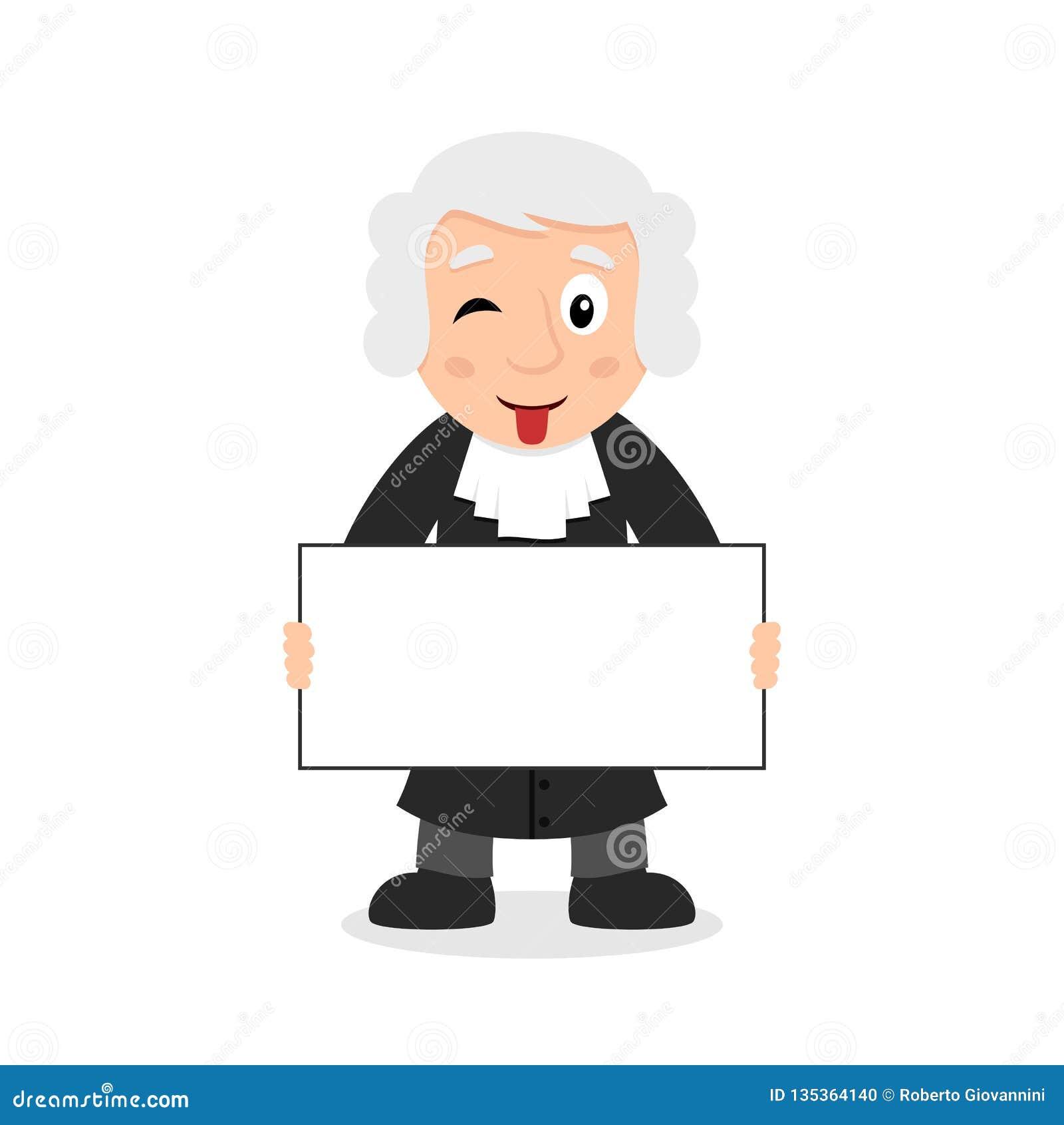 Juge Character avec la bannière vide