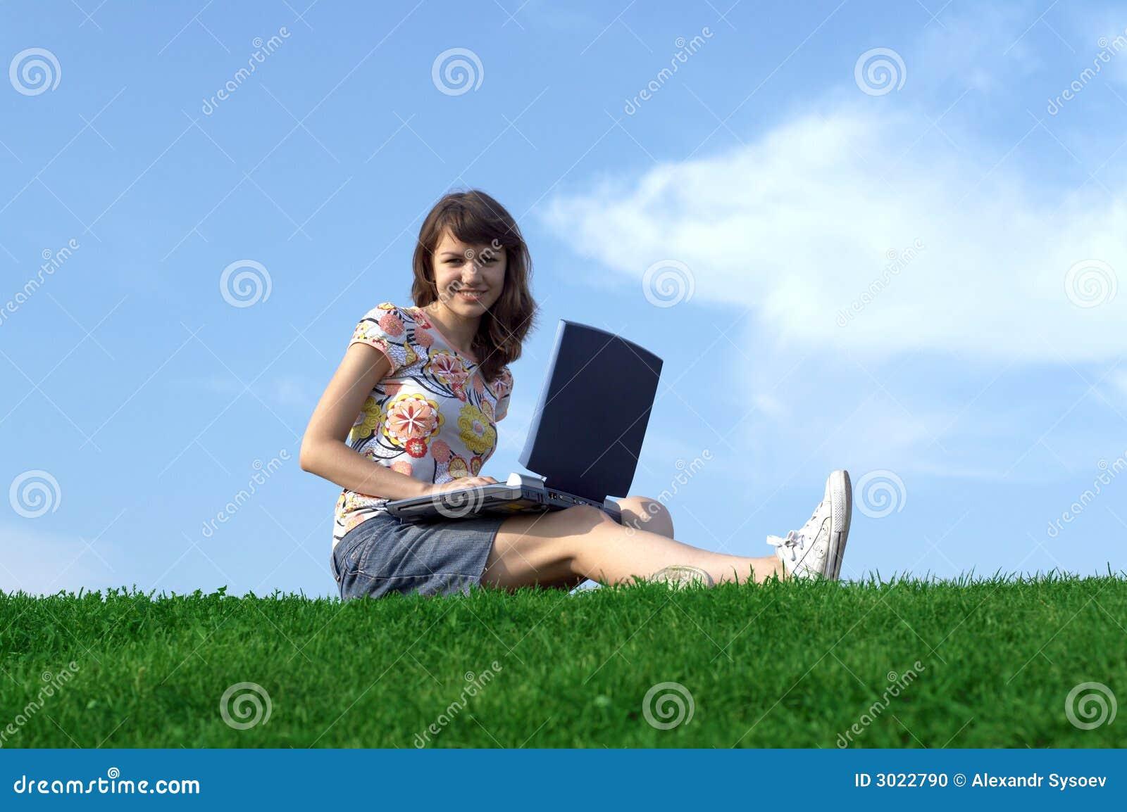 Jugendlich Mädchen in der im Freienstudie
