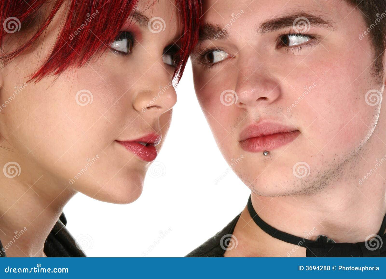 Redhead jugendlich Paare von