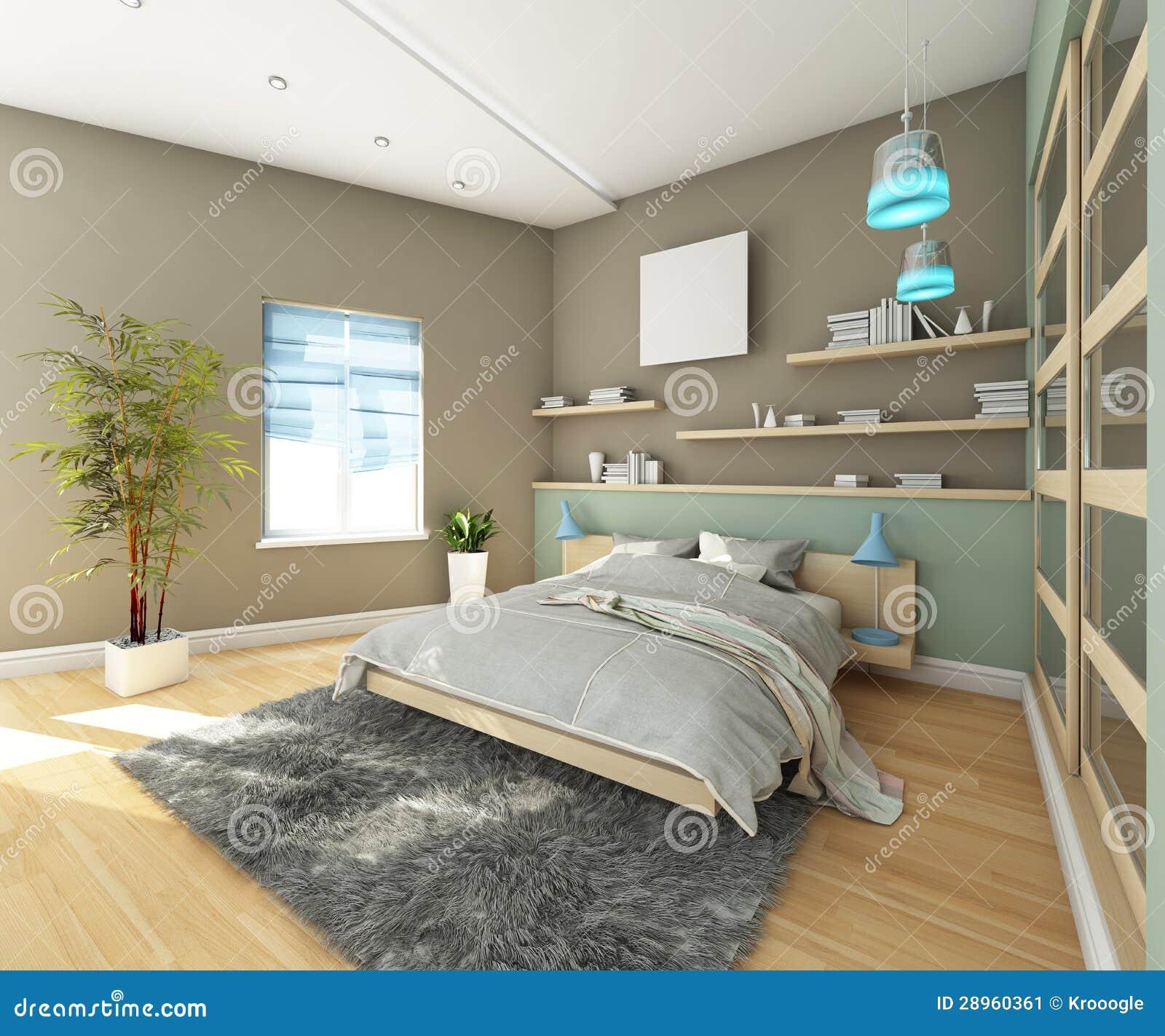 Jugendlich Schlafzimmer Mit Teppich Stock Abbildung - Illustration ...