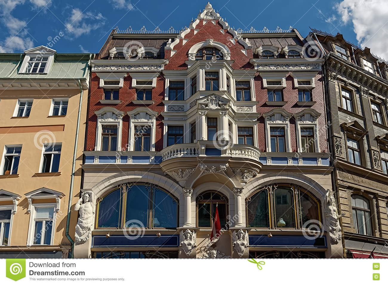 Jugendstil architektur stockfoto bild 71415524 for Architektur jugendstil
