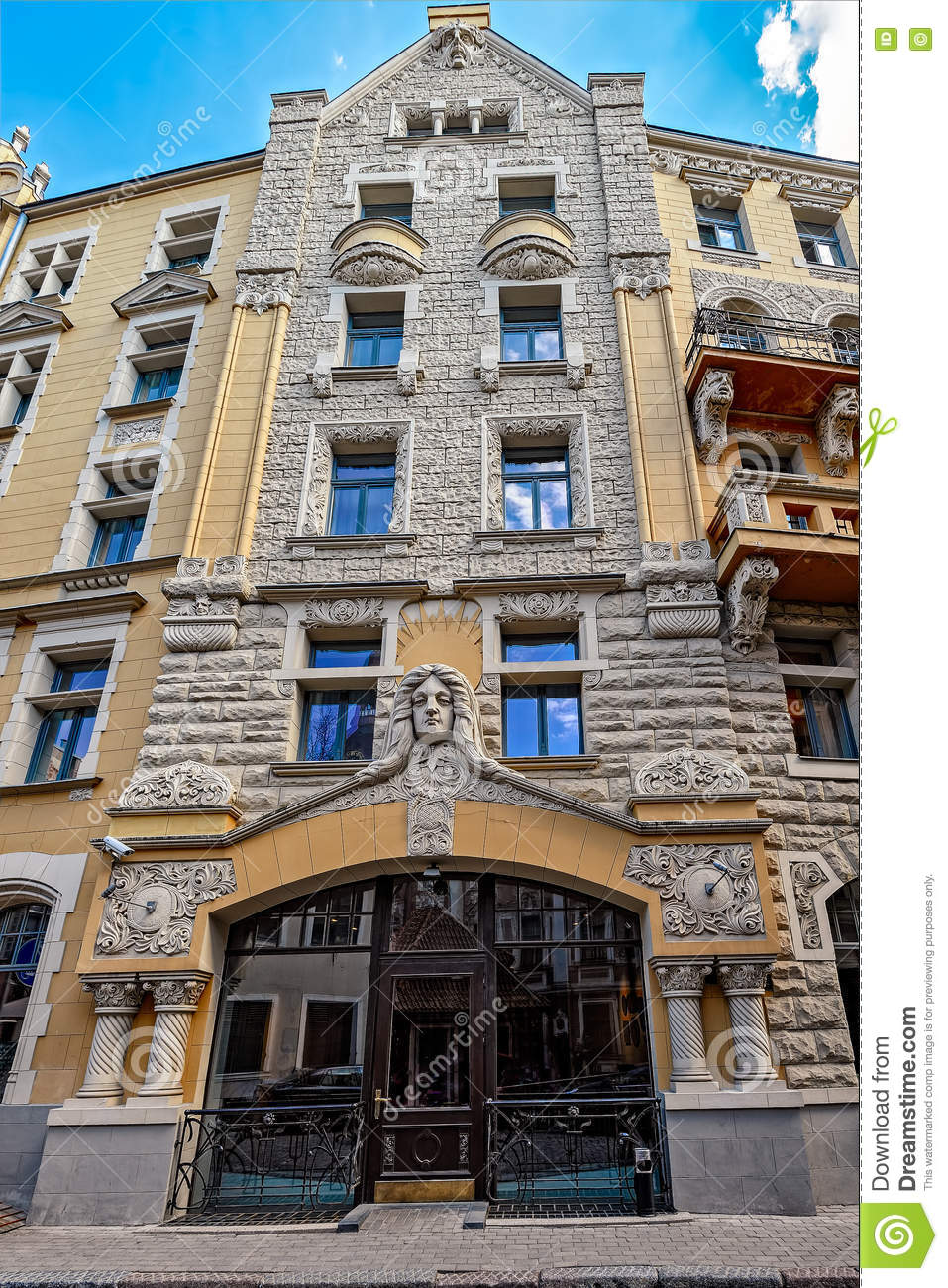 Jugendstil architektur stockfoto bild 71415919 for Architektur jugendstil