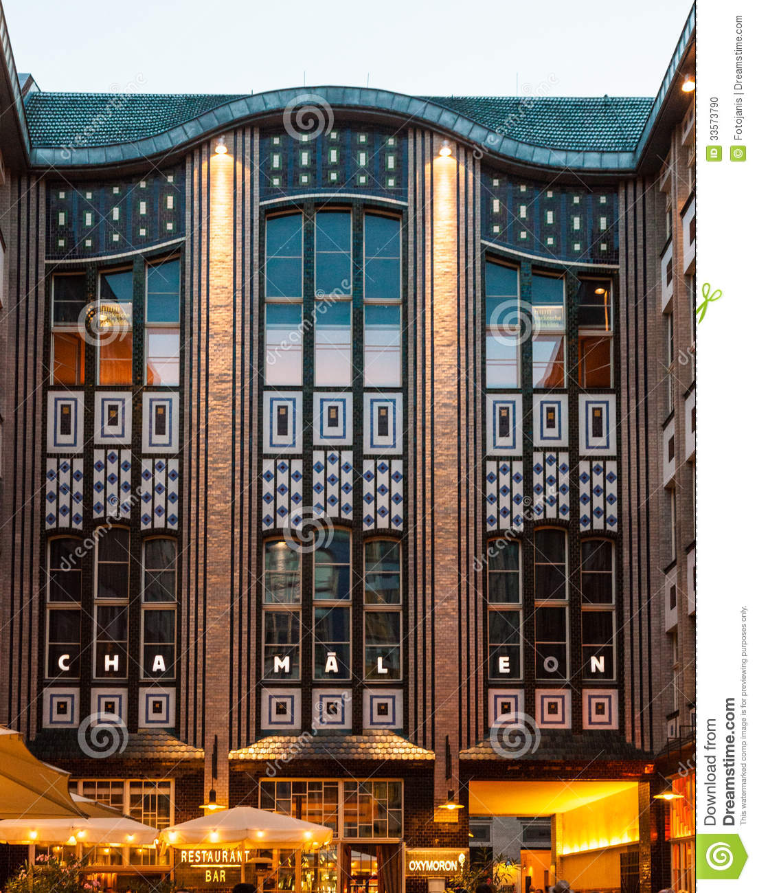 Art deco style architecture - Art Berlin Germany Hackescher Hof Jugendstil Nouveau