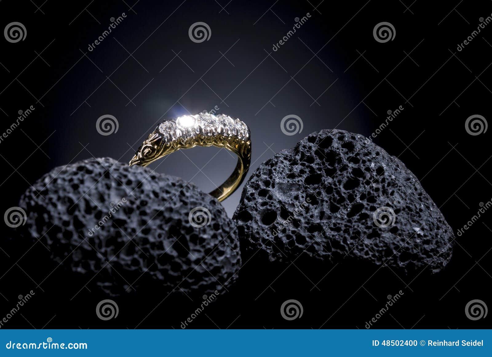 Jugendstil brylanta pierścionek