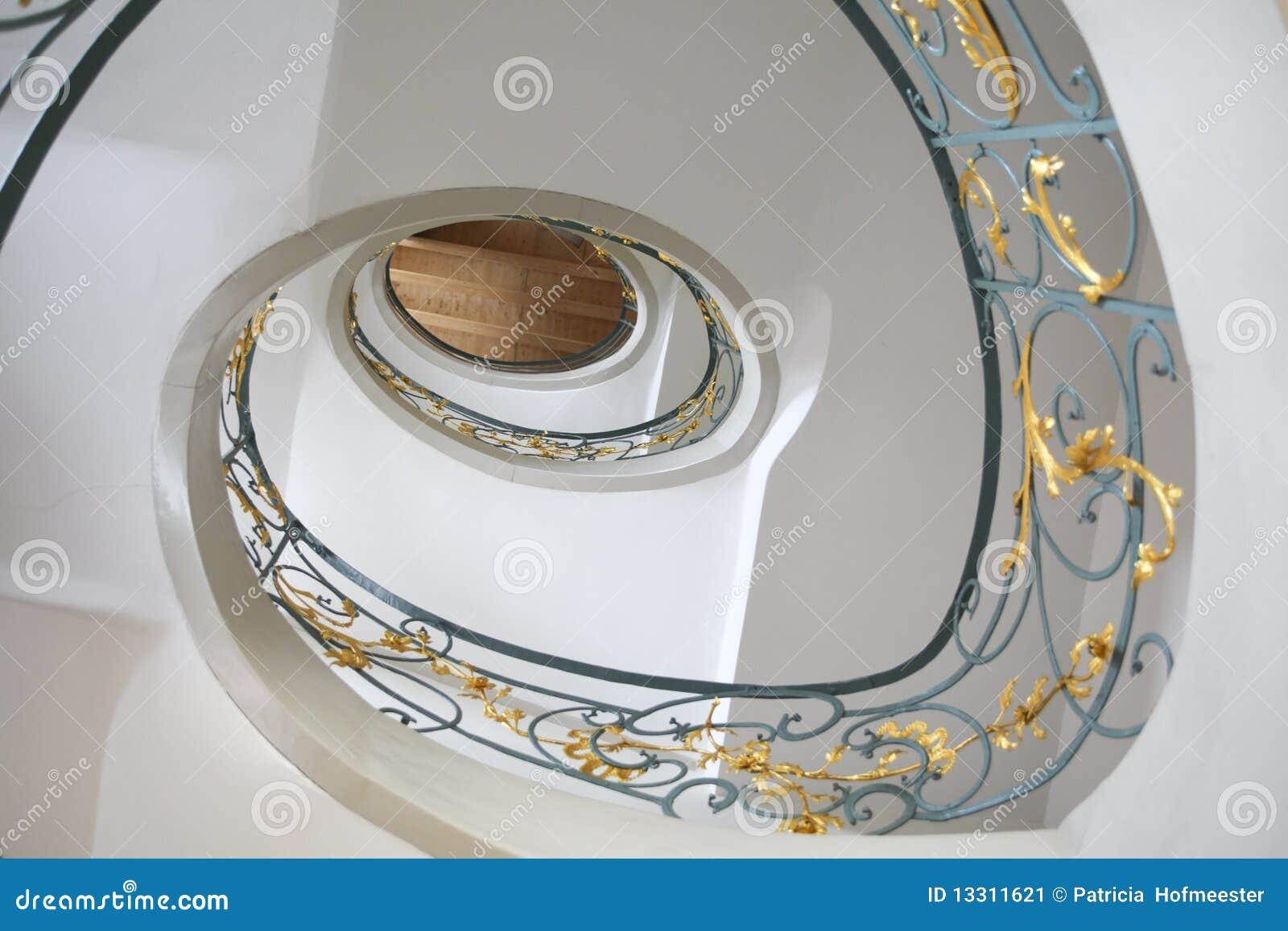 jugendstil treppenhaus stockbild bild 13311621. Black Bedroom Furniture Sets. Home Design Ideas
