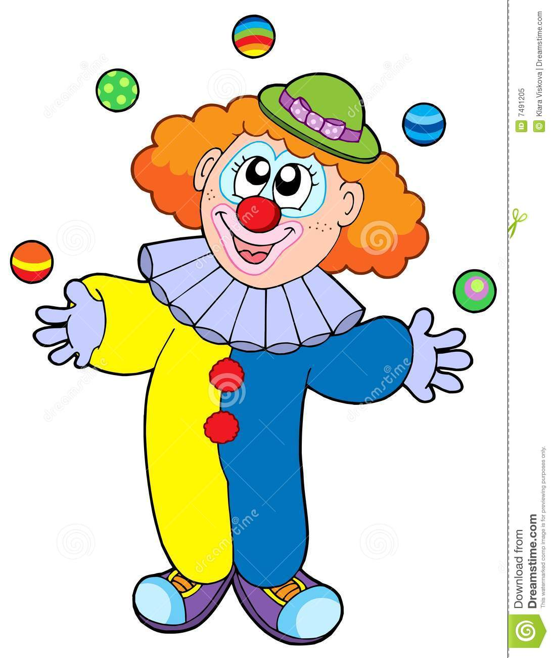 Juggling Cartoon Clown Royalty Free Stock Photo - Image: 7491205