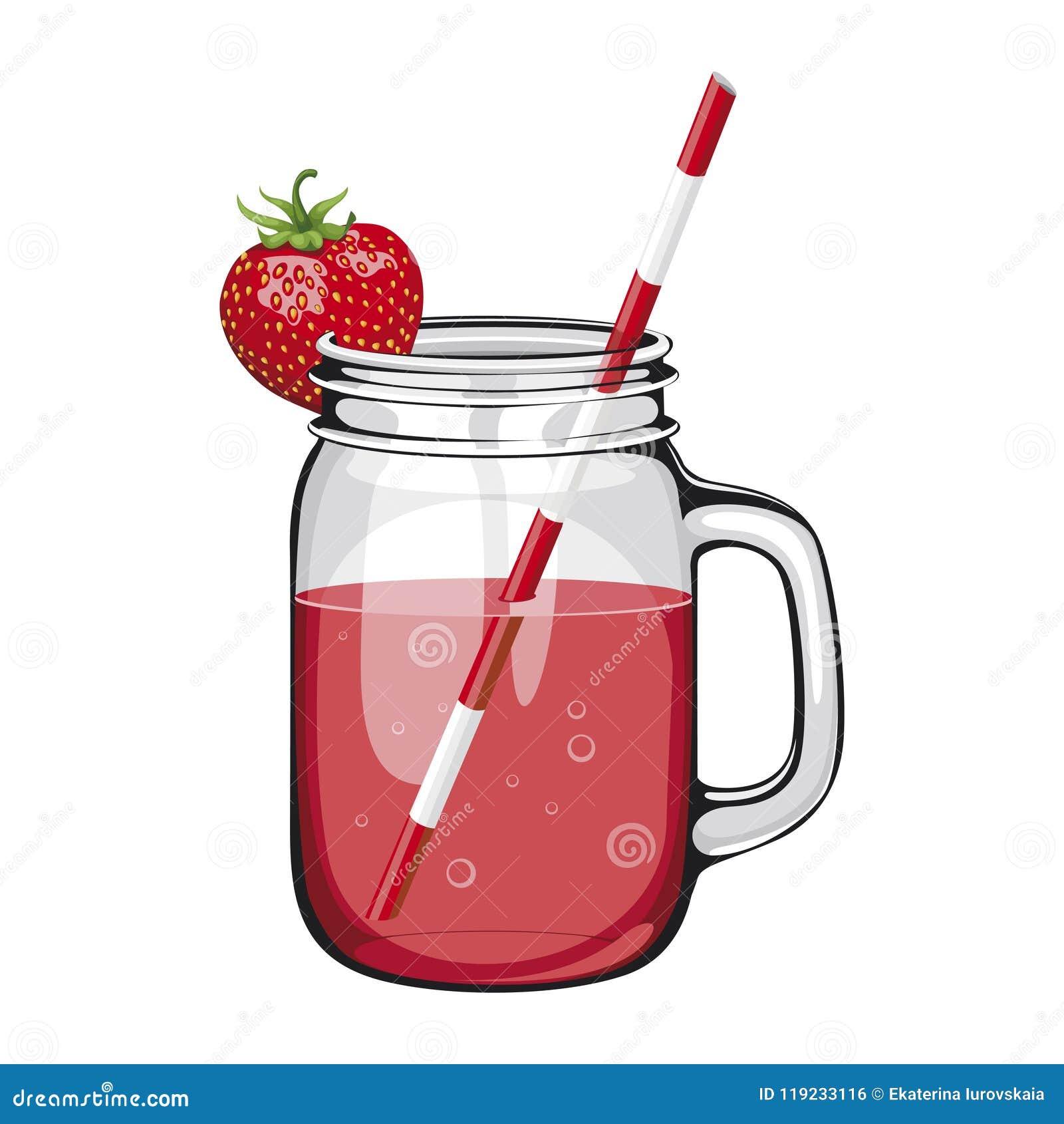 Jugo de la fresa, smoothie