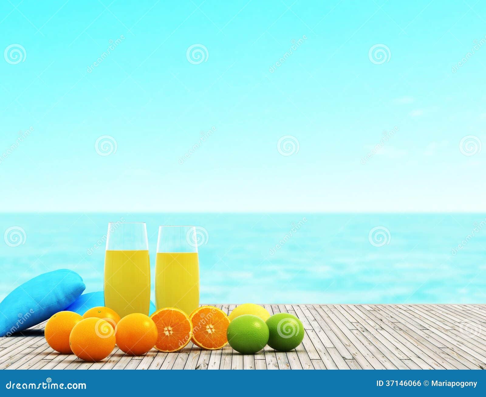 Jugo y frutas