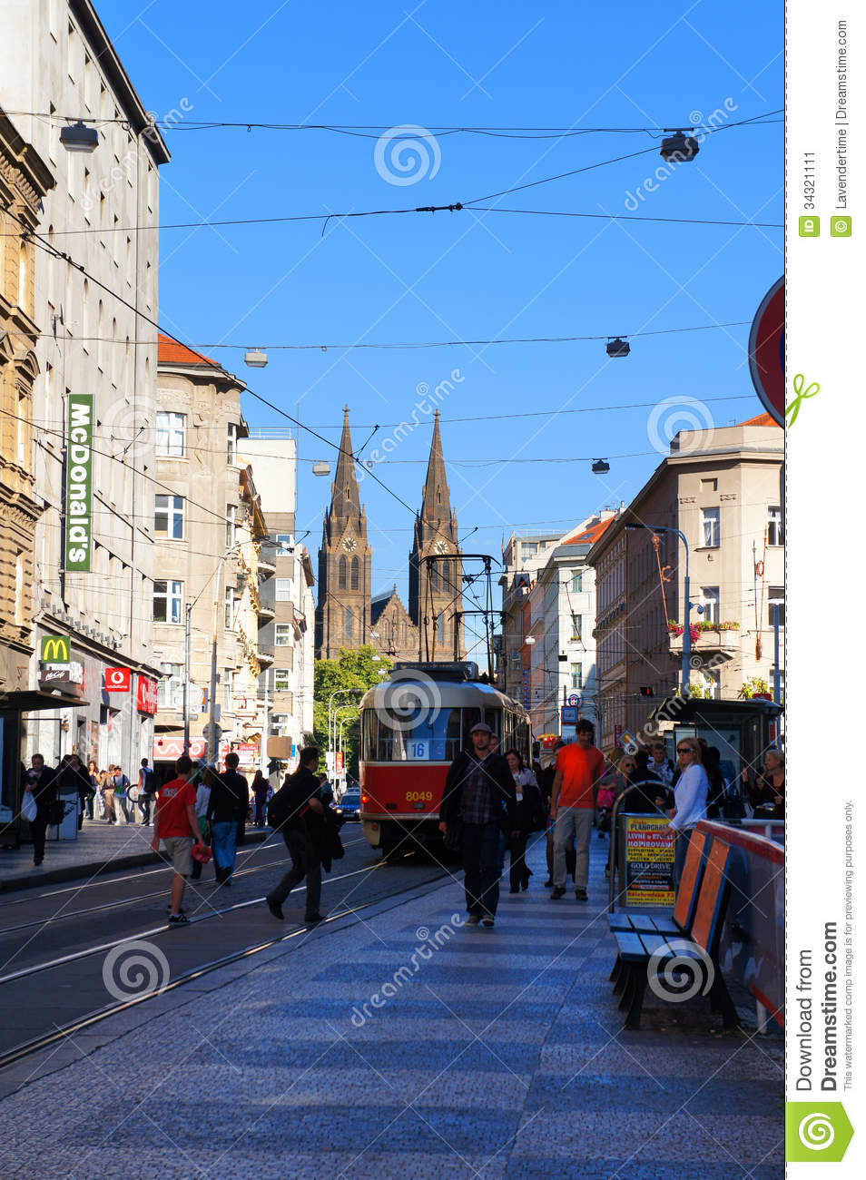 Jugoslavska street prague czech editorial photo image for Where is prague near