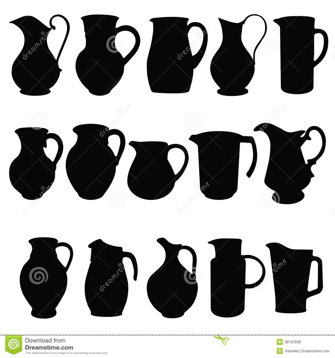 Line Drawing Jug : Jugs stock photo image