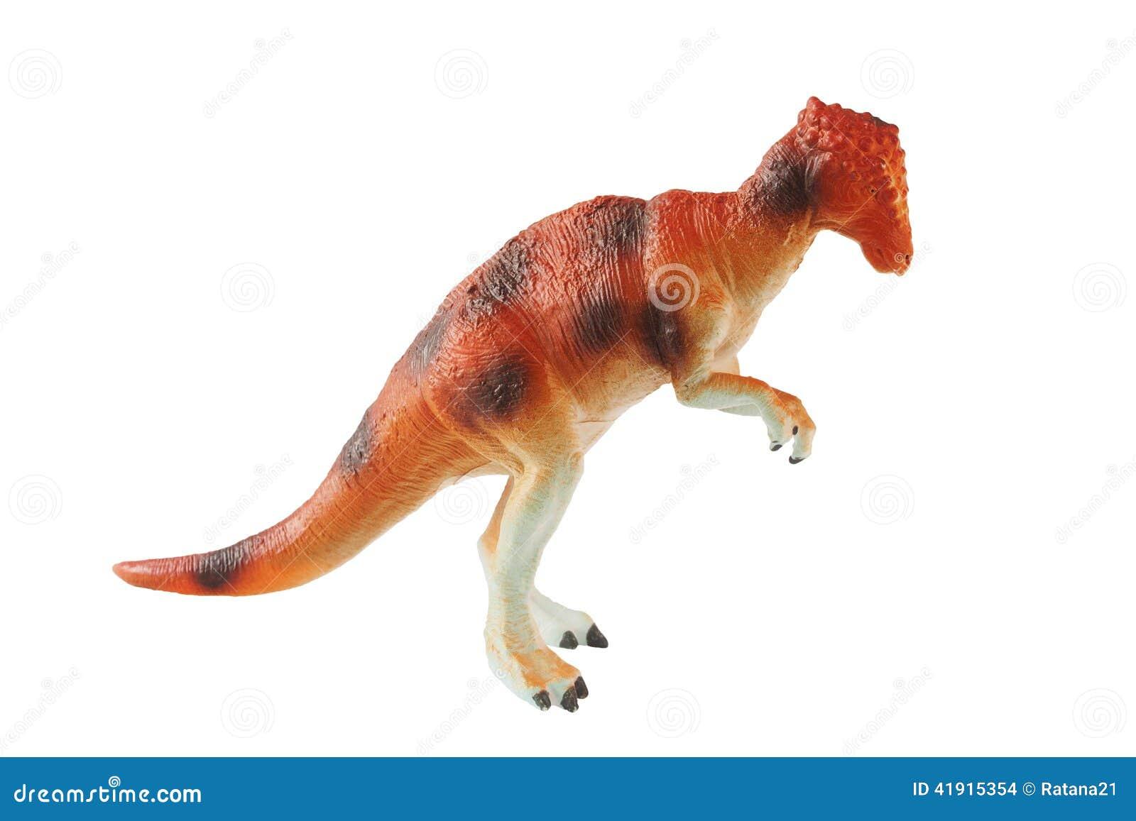 Juguete anaranjado del dinosaurio
