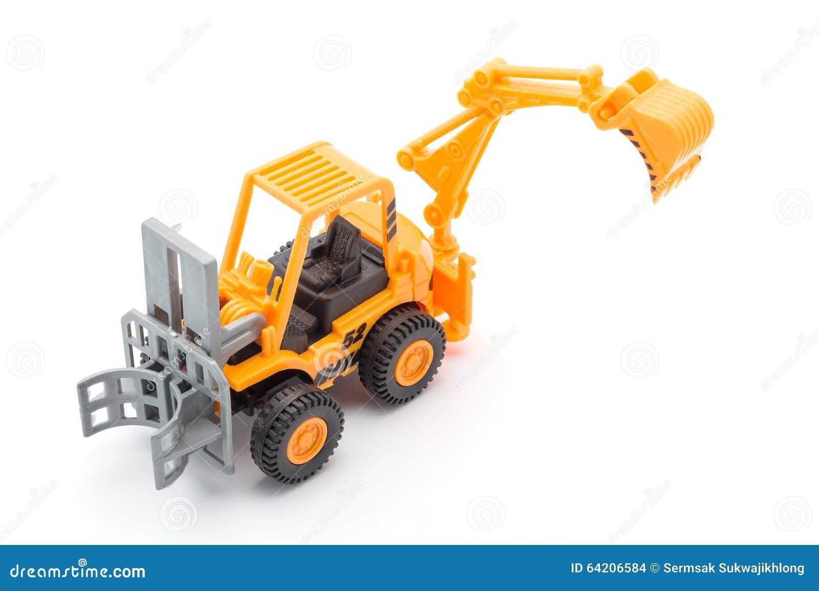 Juguete anaranjado del tractor