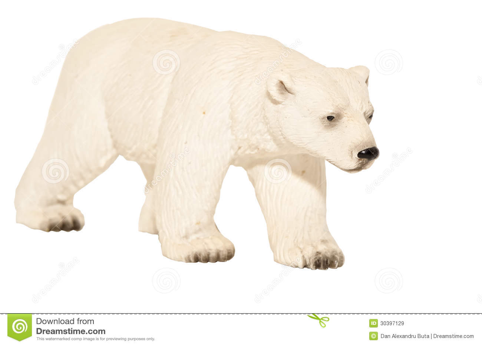 Juguete blanco del oso polar