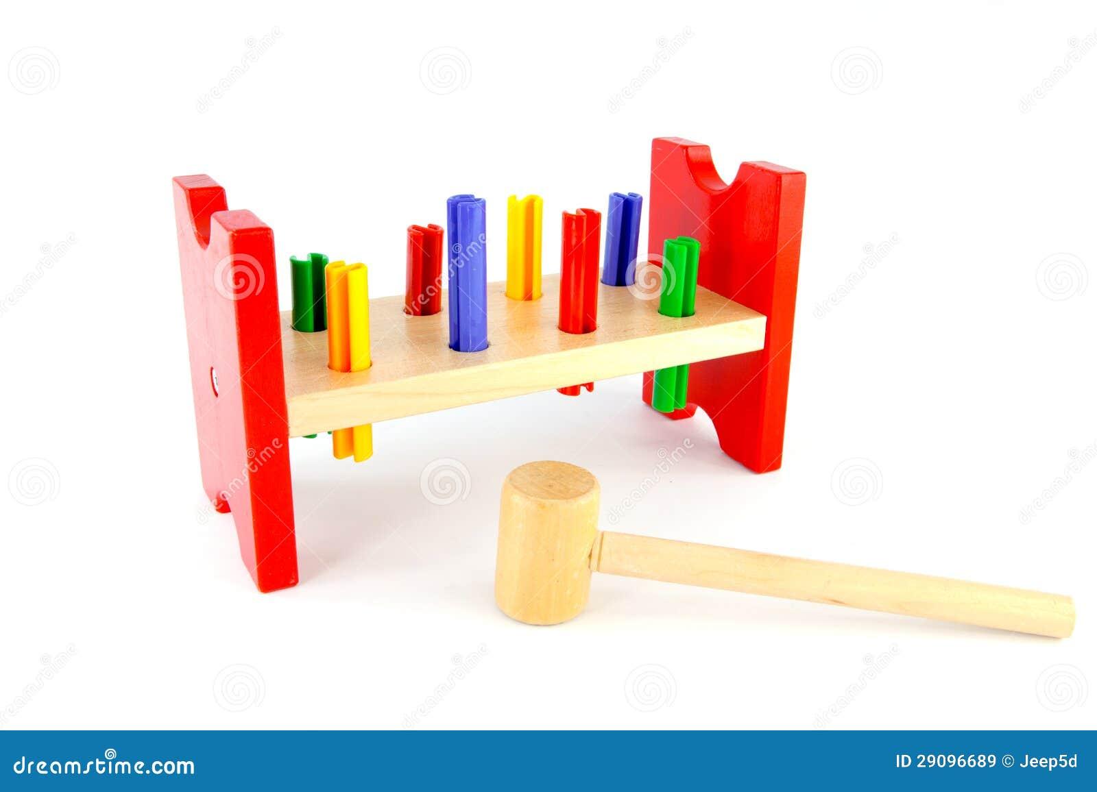 Juguete de madera del martillo im genes de archivo libres - Jugueteros de madera ...