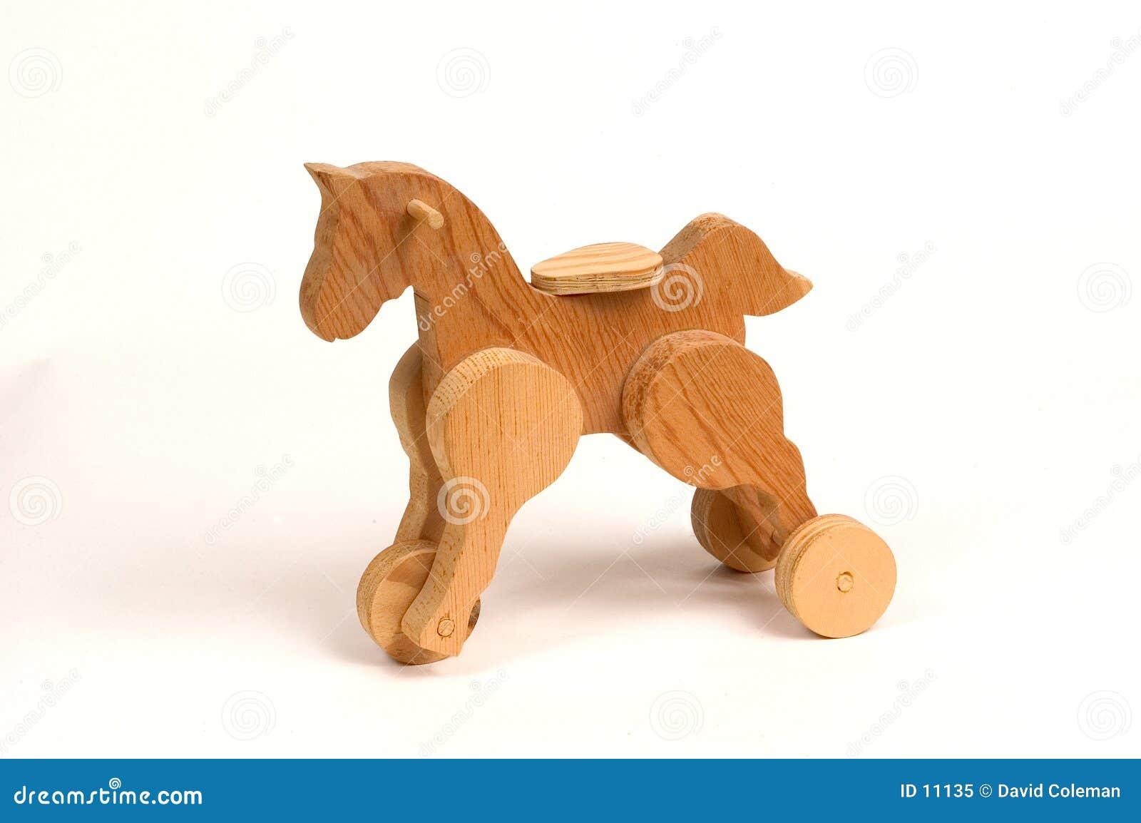 Juguete de madera del tirón